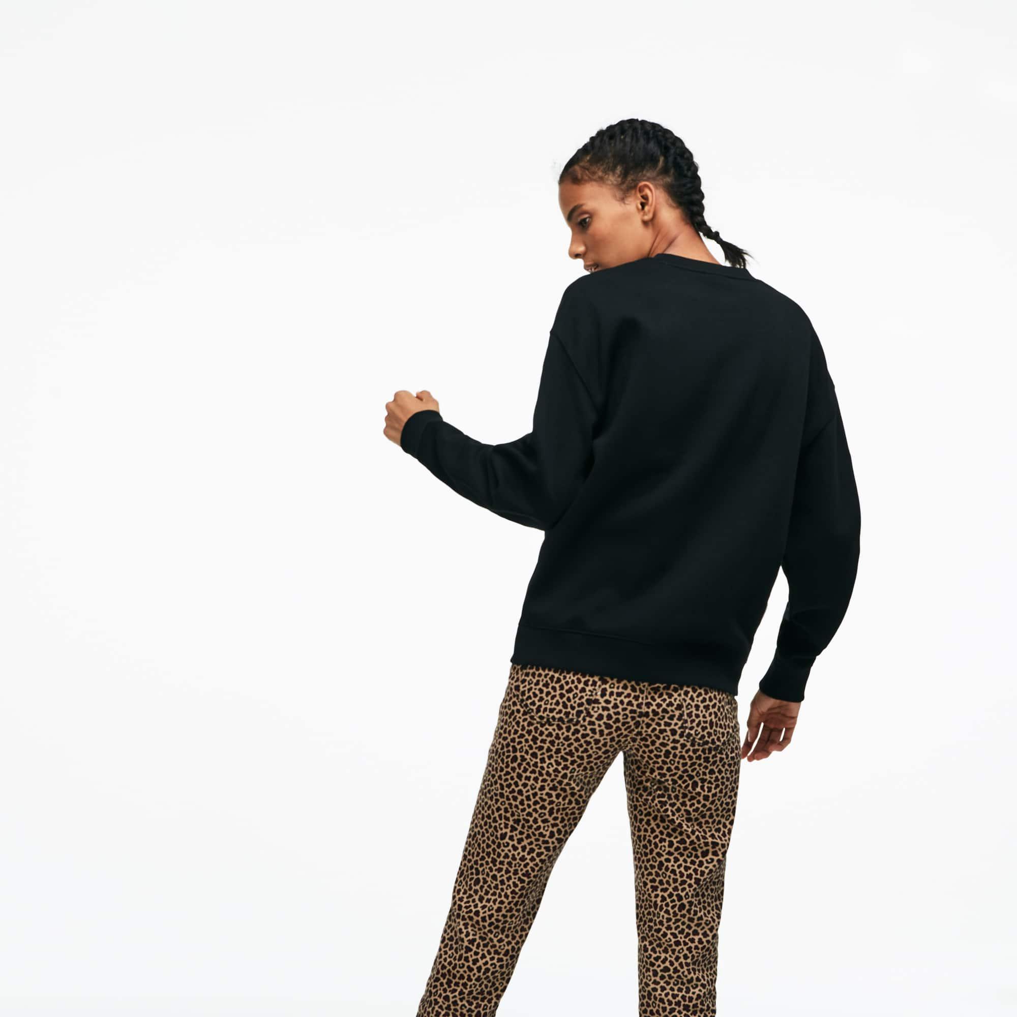 Lacoste - LACOSTE L!VE Rundhals-Sweatshirt mit Stickerei - 5