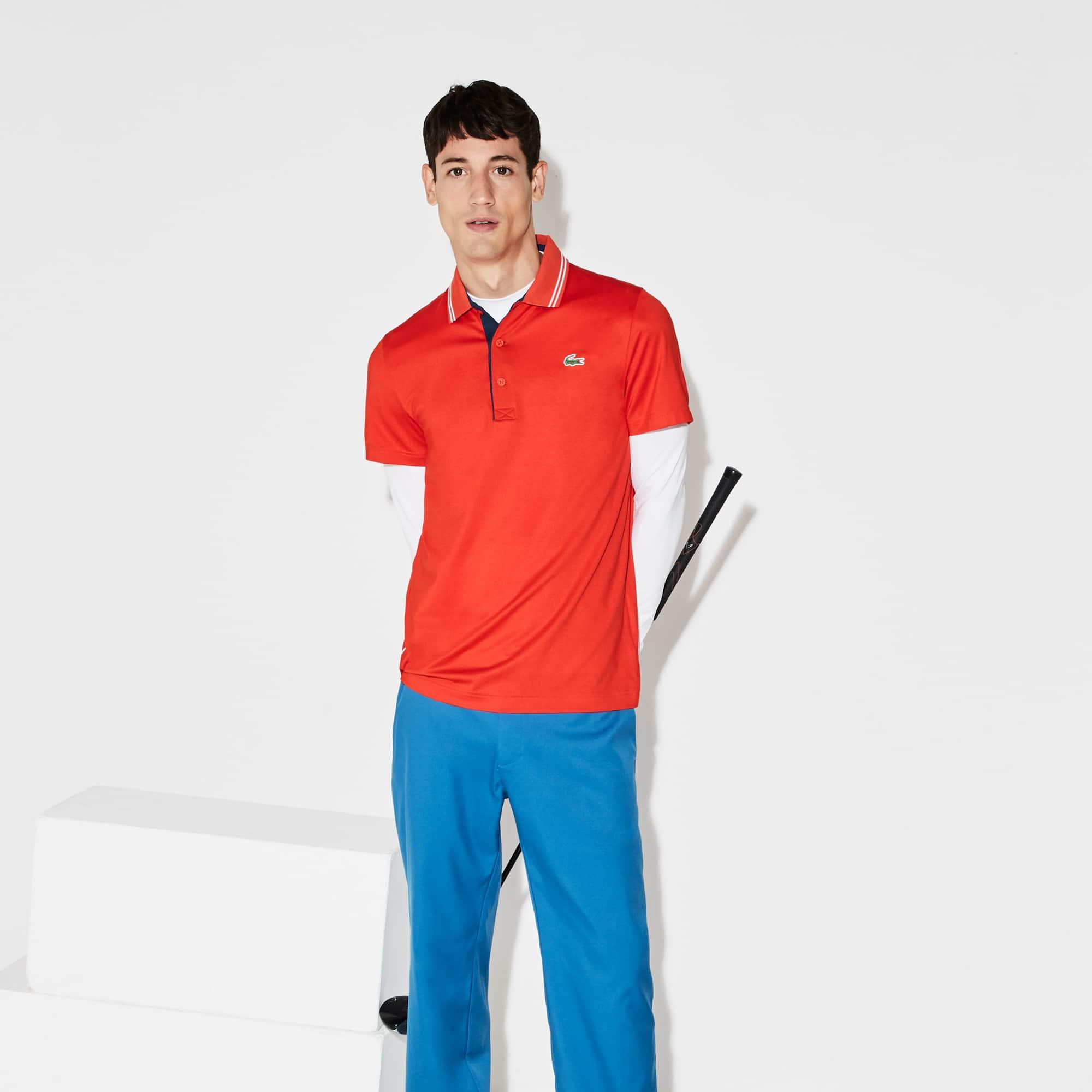 Lacoste - Herren LACOSTE SPORT Stretch Golf-Poloshirt mit Schriftzug - 4