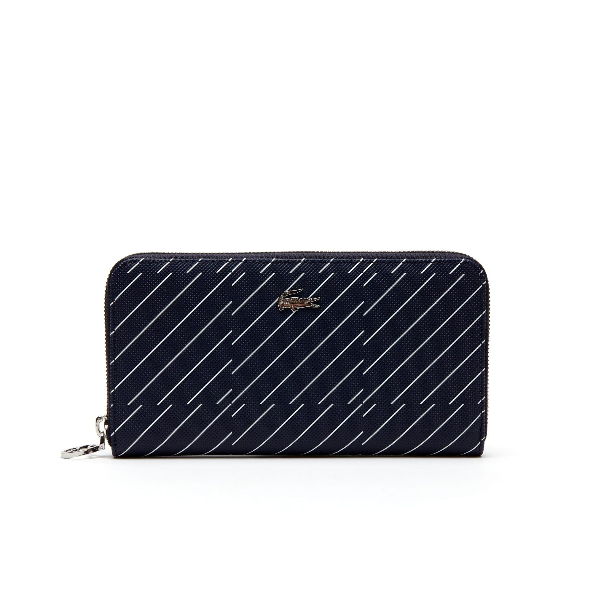Damen Daily Classic Brieftasche aus Piqué-Canvas mit Aufdruck