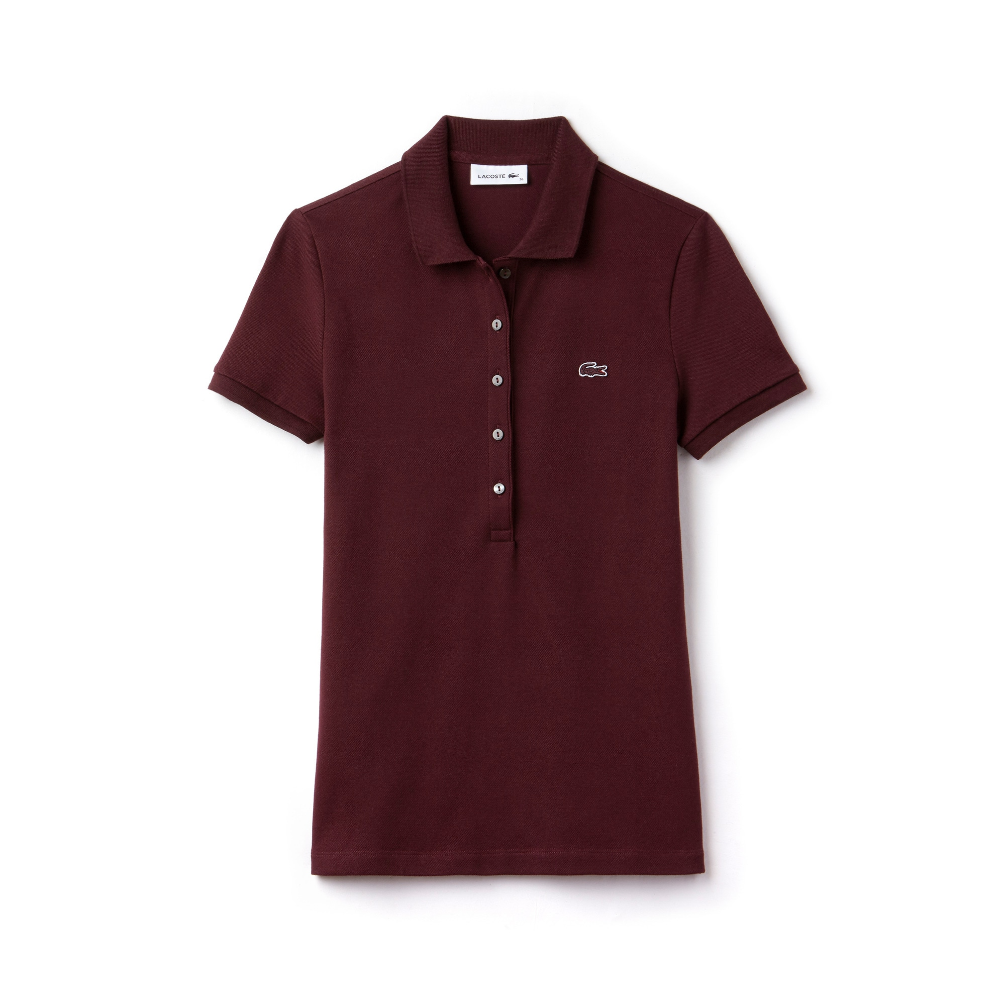 LACOSTE Slim Fit Damen-Poloshirt aus Mini-Piqué mit Stretch