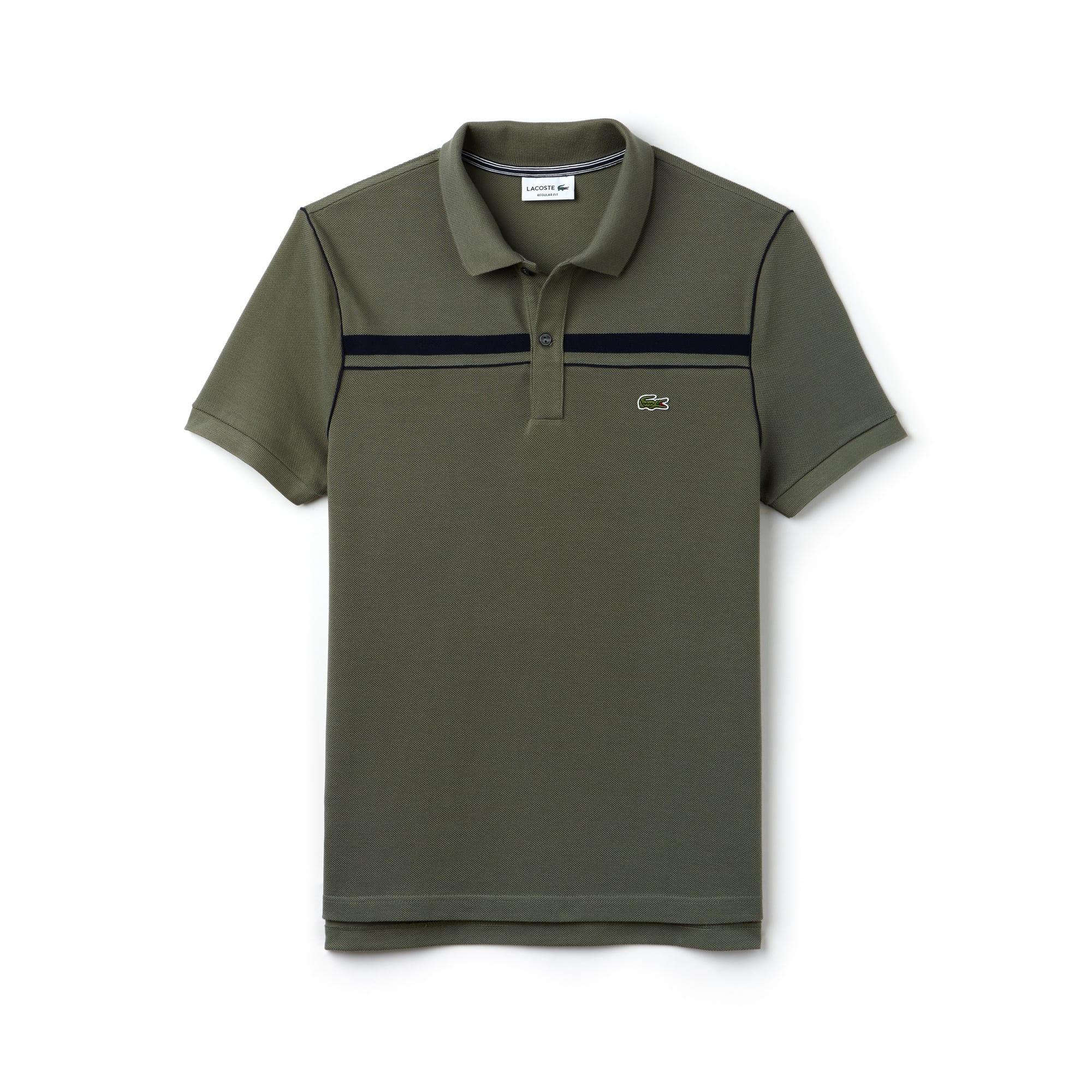 Regular Fit Herren-Poloshirt aus Piqué mit Kontraststreifen