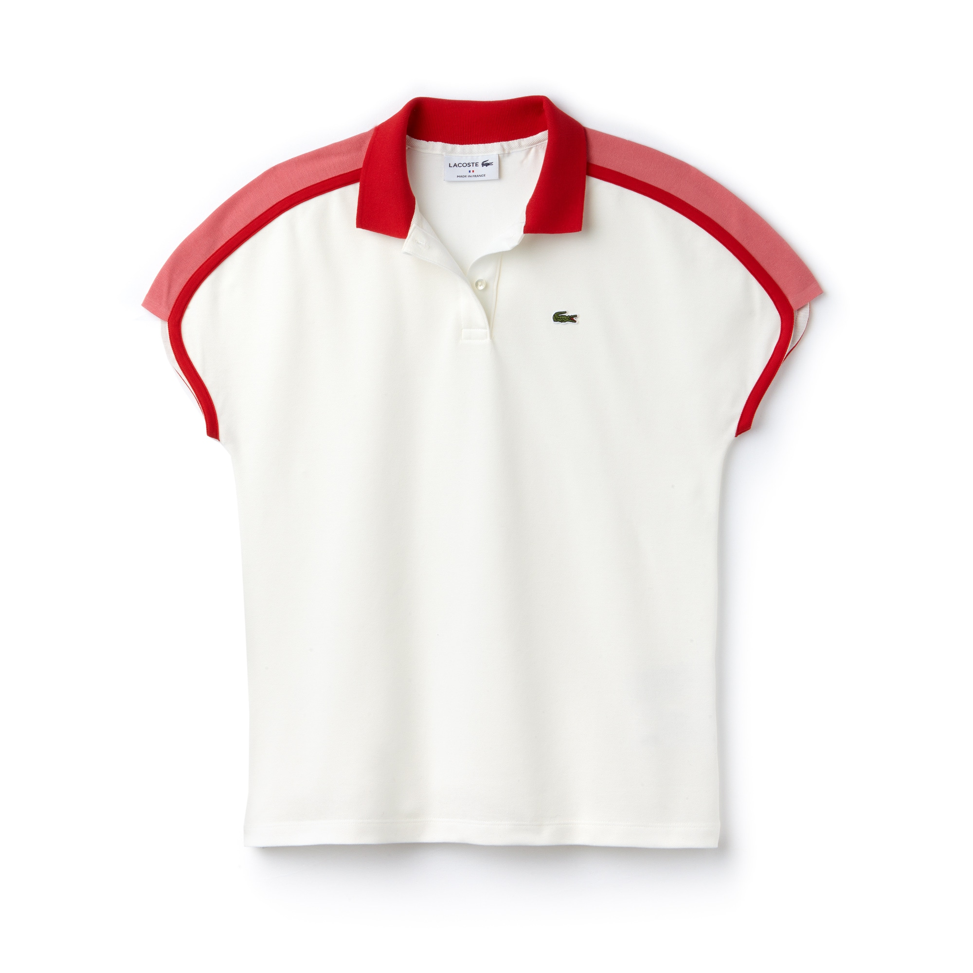 Damen LACOSTE Made in France Poloshirt mit Colorblocks