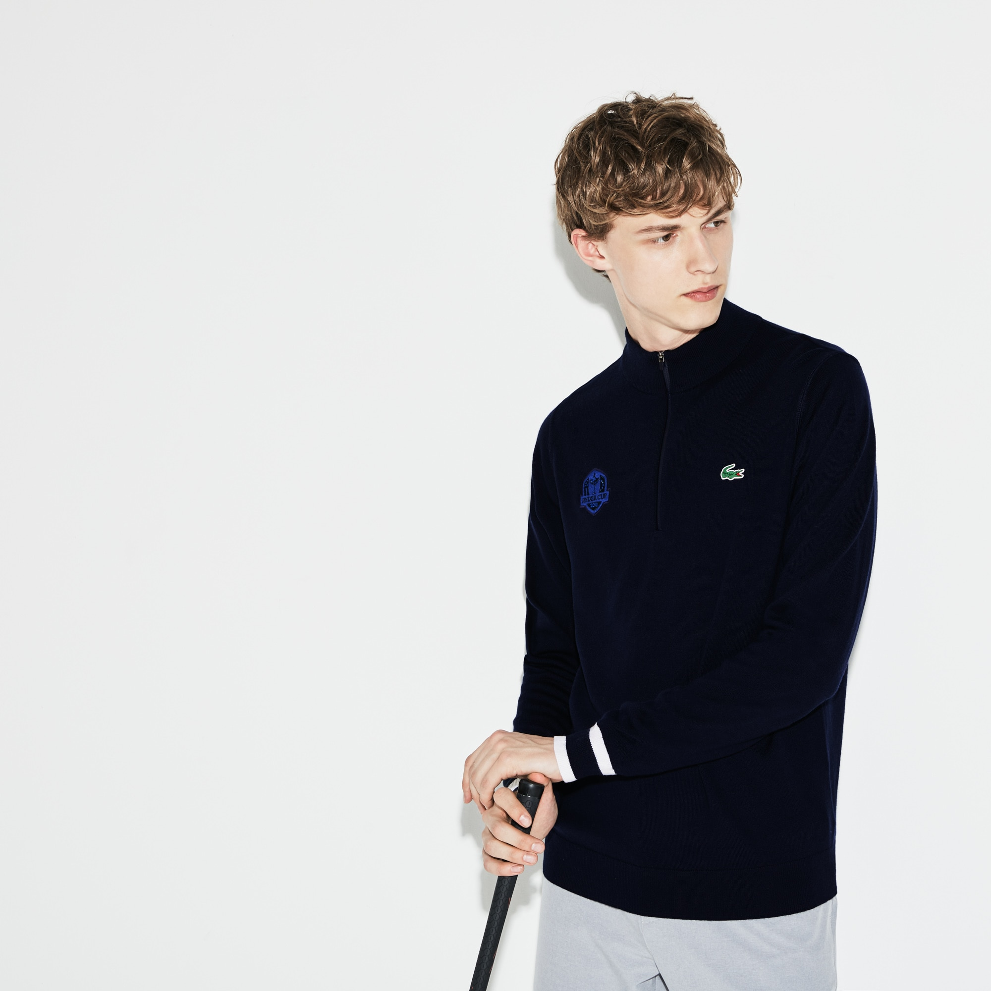 Herren LACOSTE SPORT Ryder Cup Edition Golf Pullover aus Jersey
