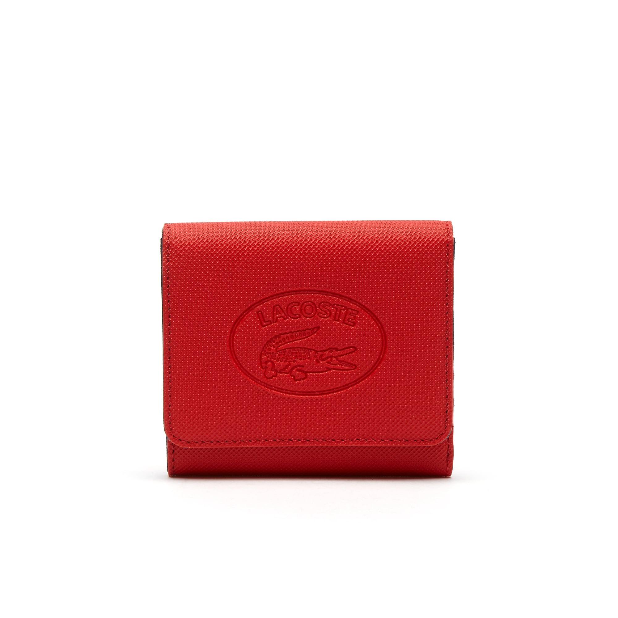 Damen Classic Colorblock 6 Karten-Brieftasche aus Piqué-Canvas