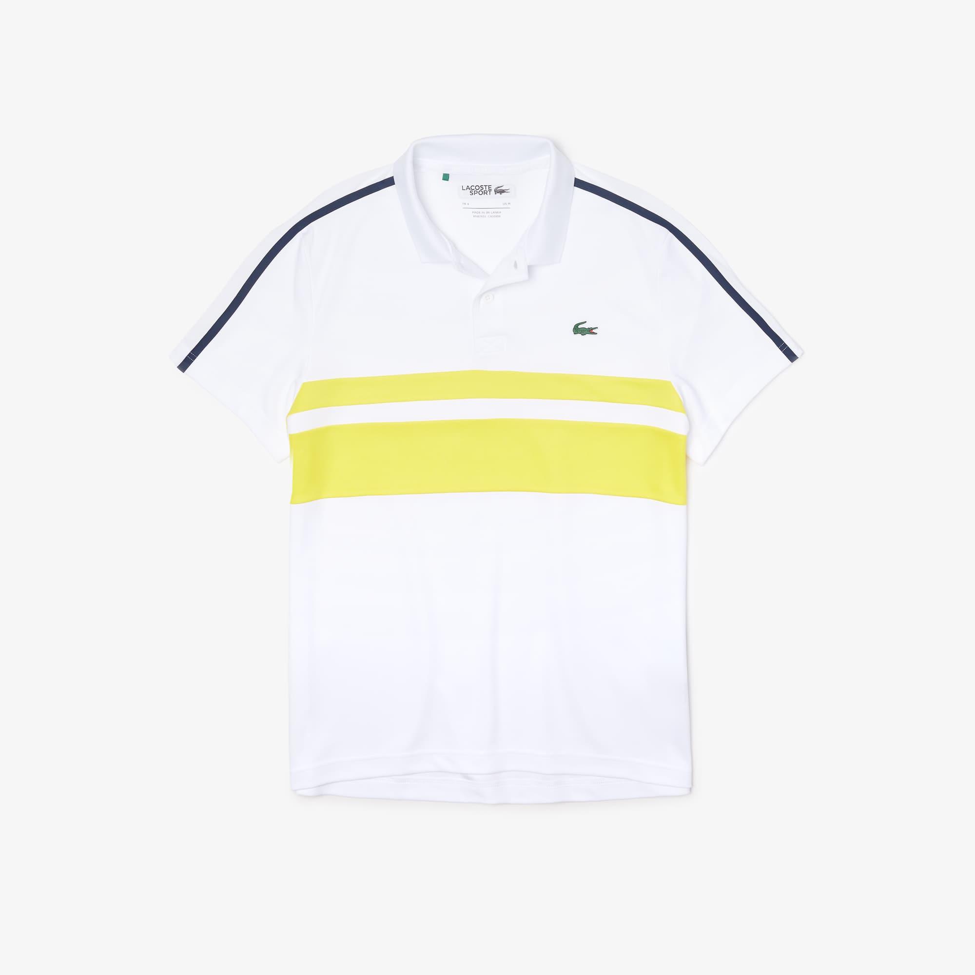 neu weiß Herren Tennis Poloshirt L 100/% Polyester