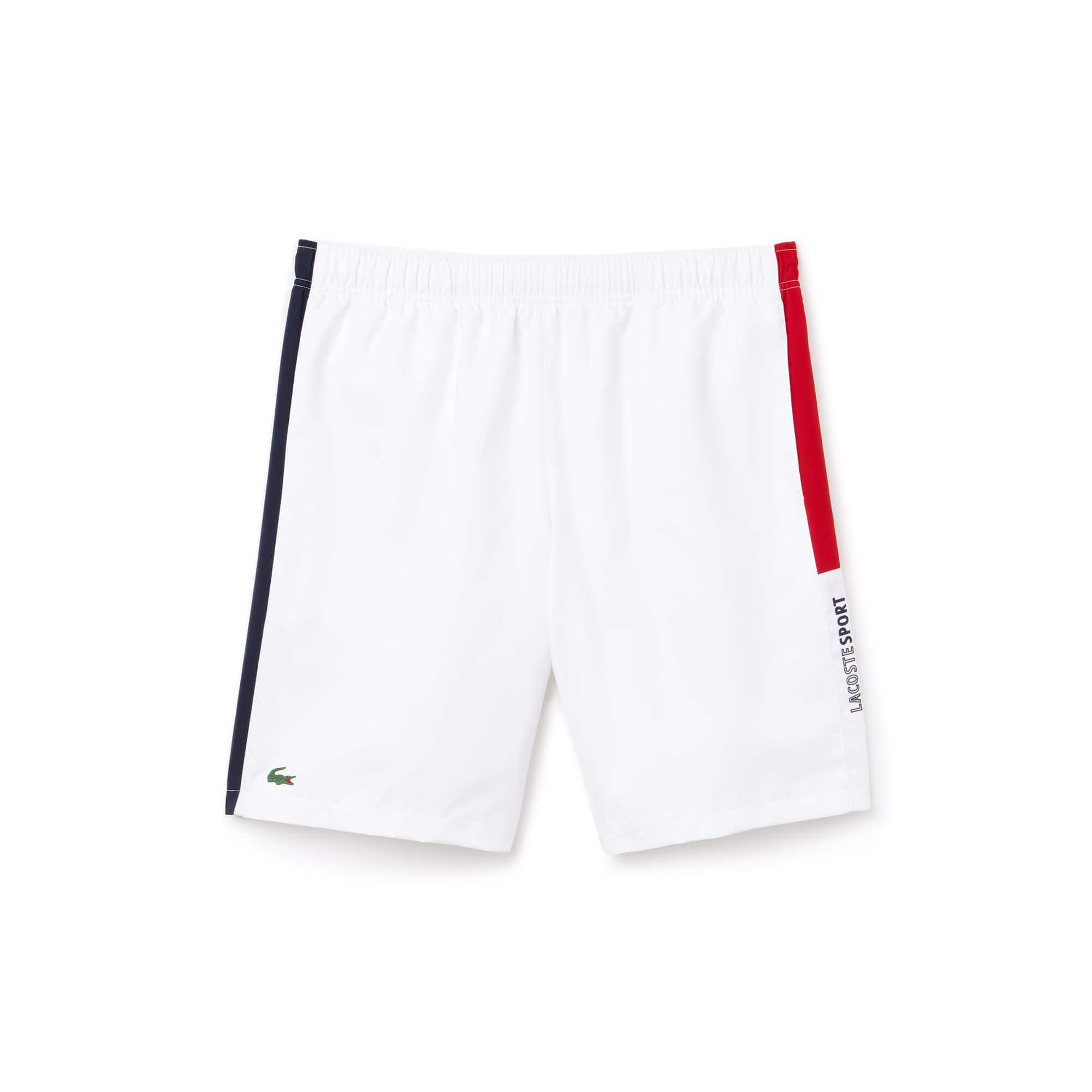 Herren LACOSTE SPORT Taft Tennisshorts mit farbigen Streifen