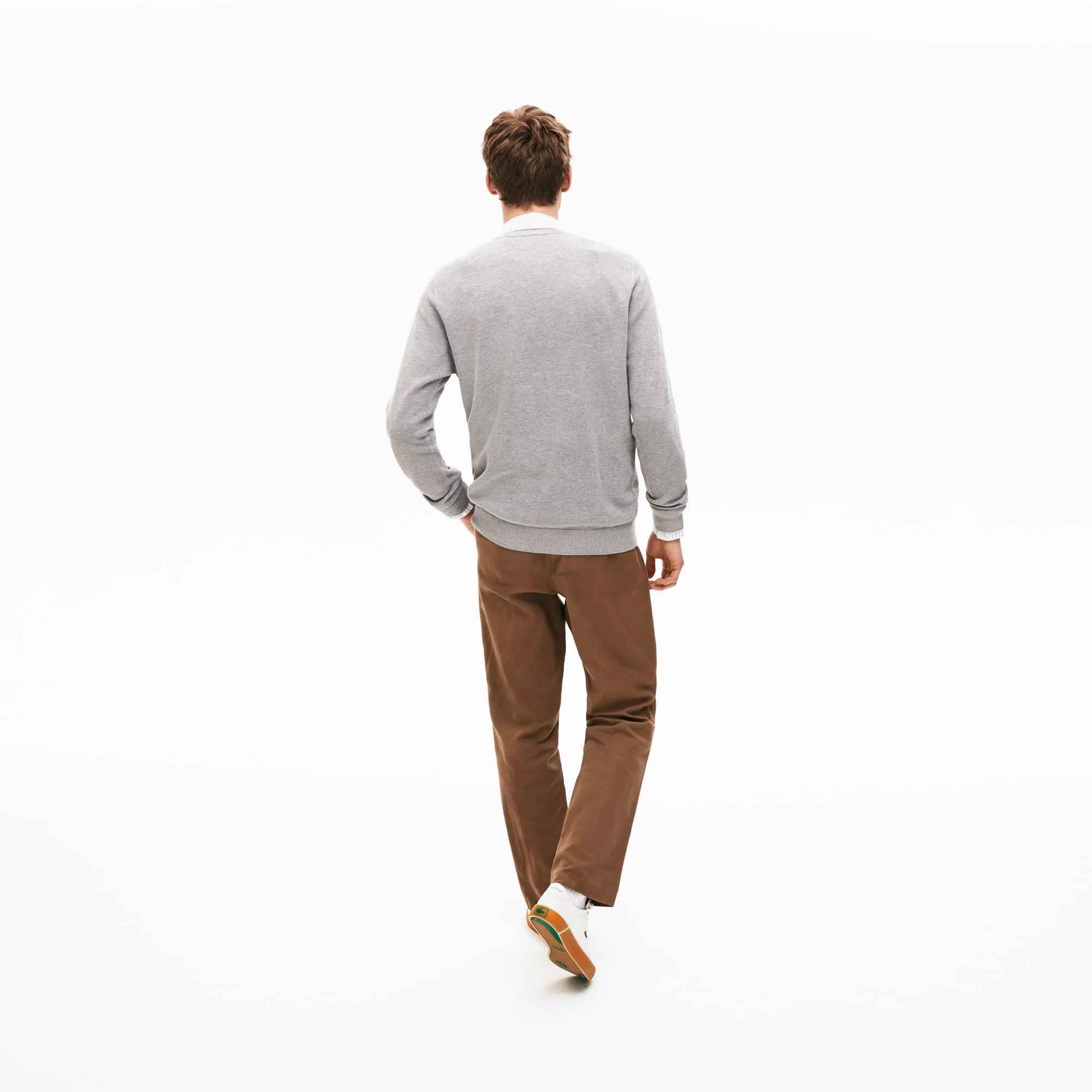 Lacoste - Herren-Rundhals-Pullover aus Baumwoll-Piqué - 2