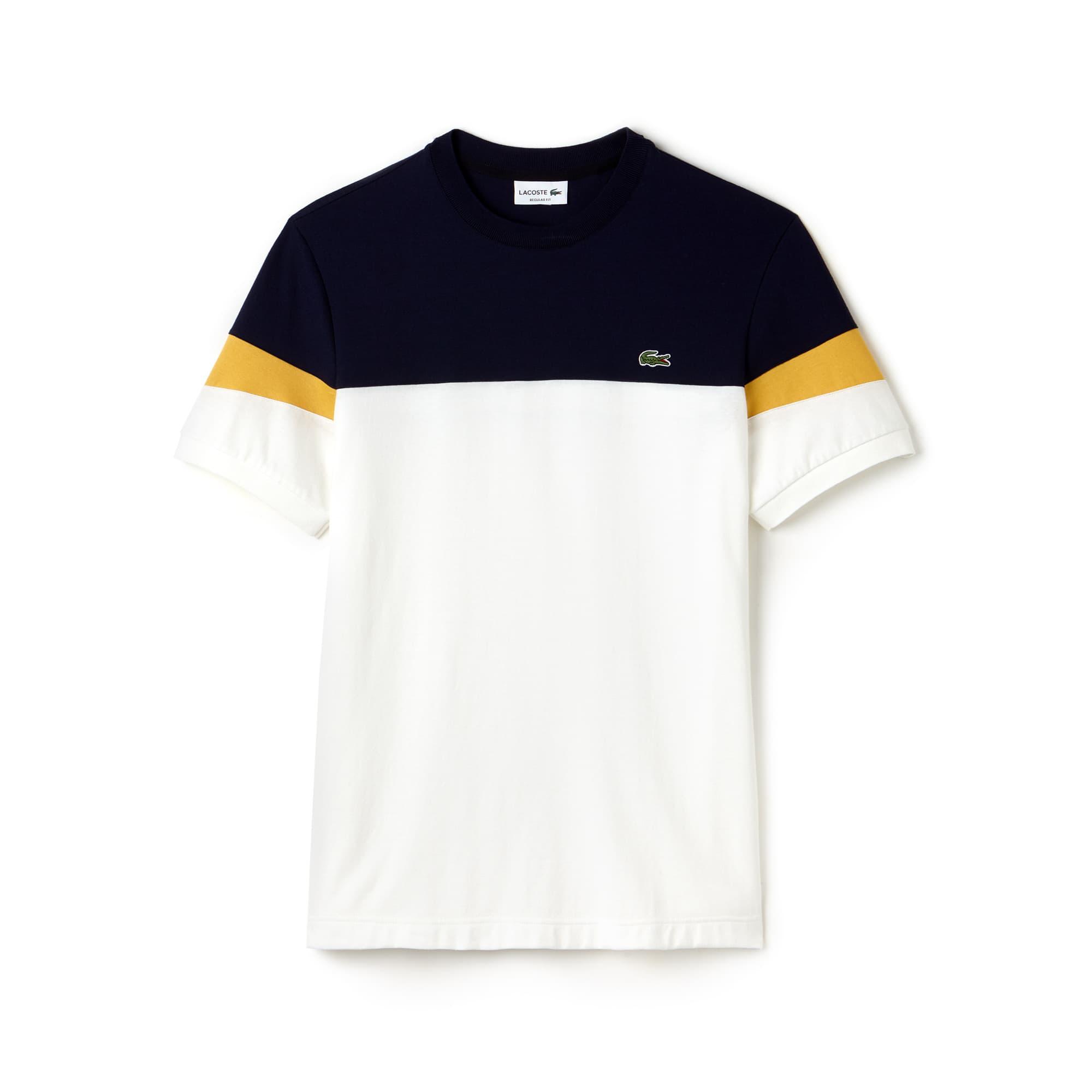 Lacoste - Herren Rundhals-Shirt aus Jersey im Colorblock-Design - 4