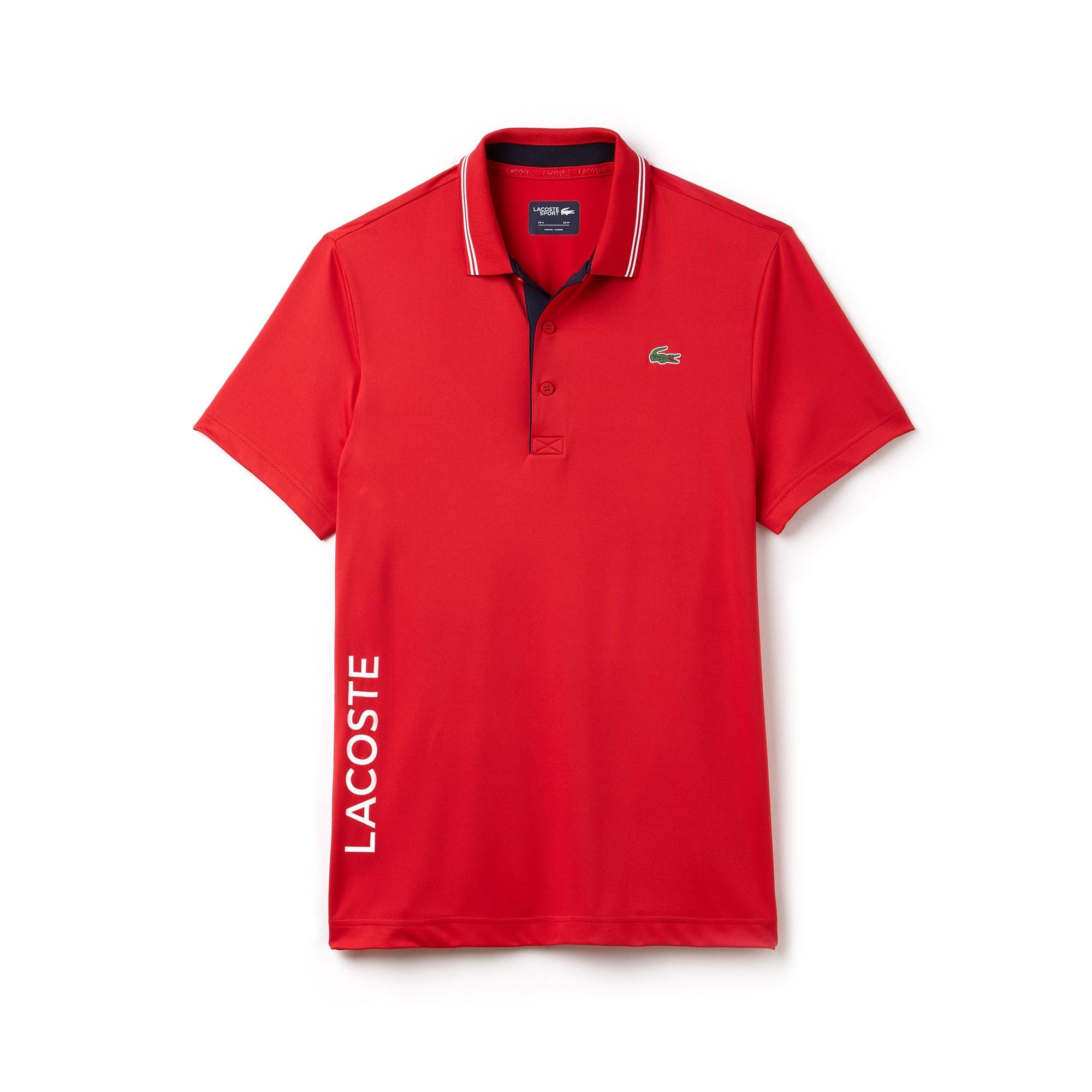 Herren LACOSTE SPORT Stretch Golf-Poloshirt mit Schriftzug