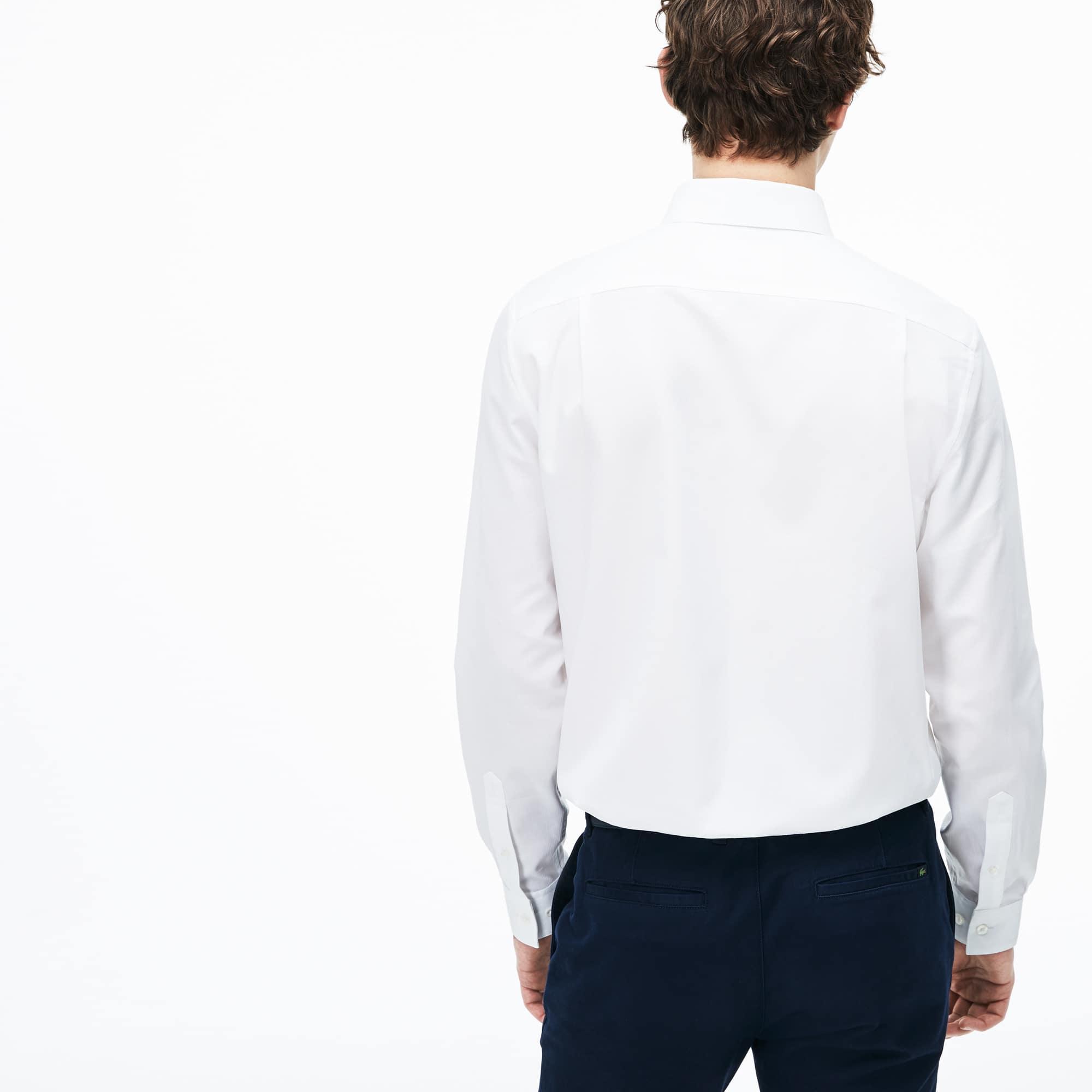 Lacoste - Regular Fit Herren-Hemd aus strukturierter Popeline - 3