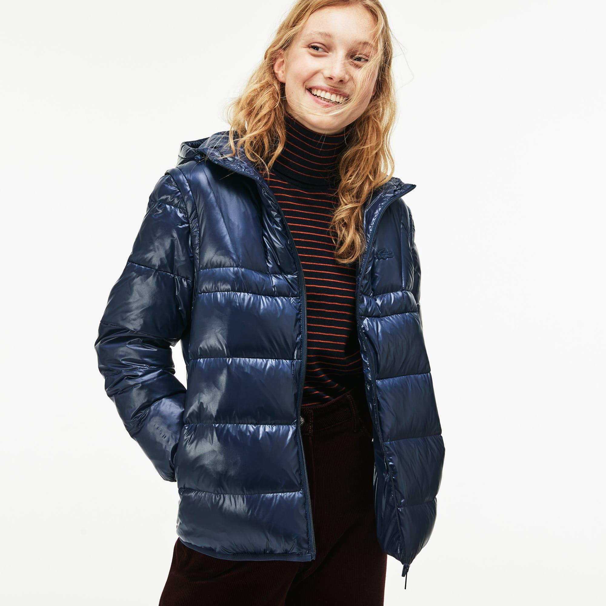 Damen-Jacke mit Kapuze aus Taft