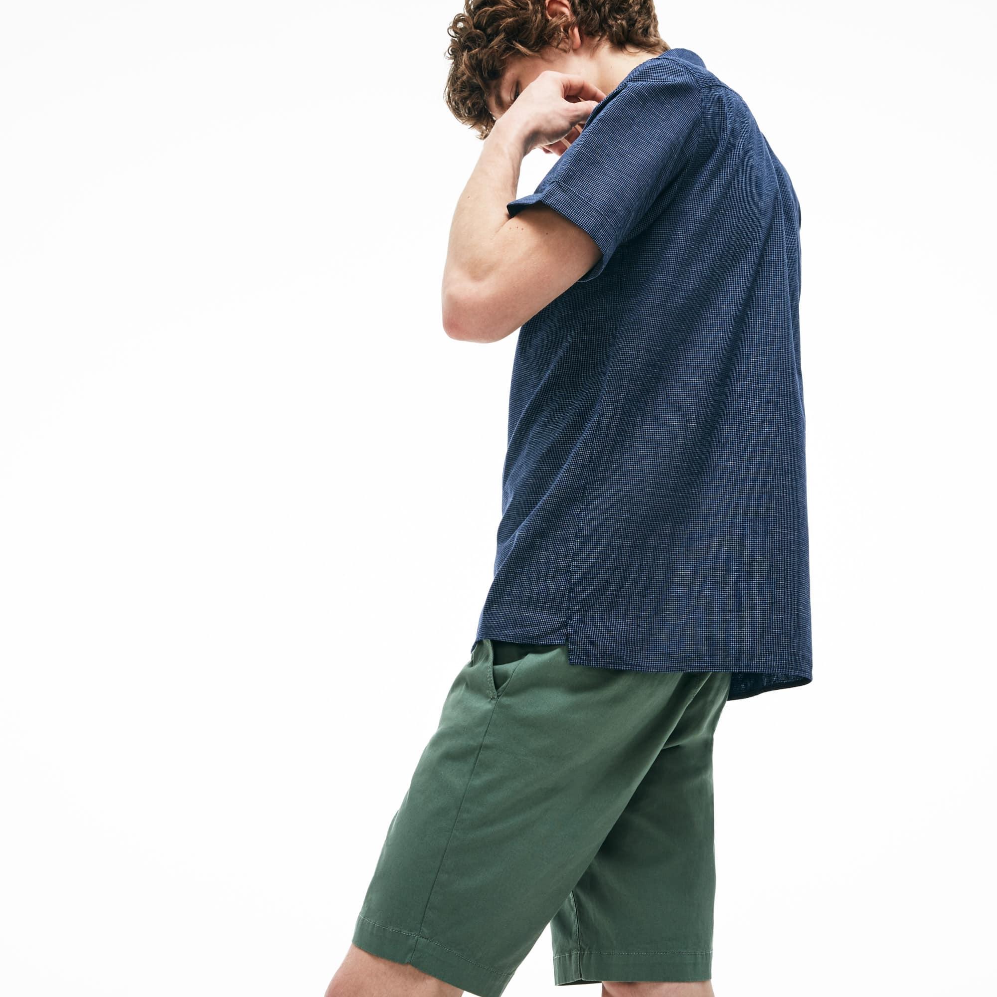 premium selection 213fb d0aaa Regular Fit Herren-Hemd aus Baumwoll-Leinen mit kurzen Ärmeln