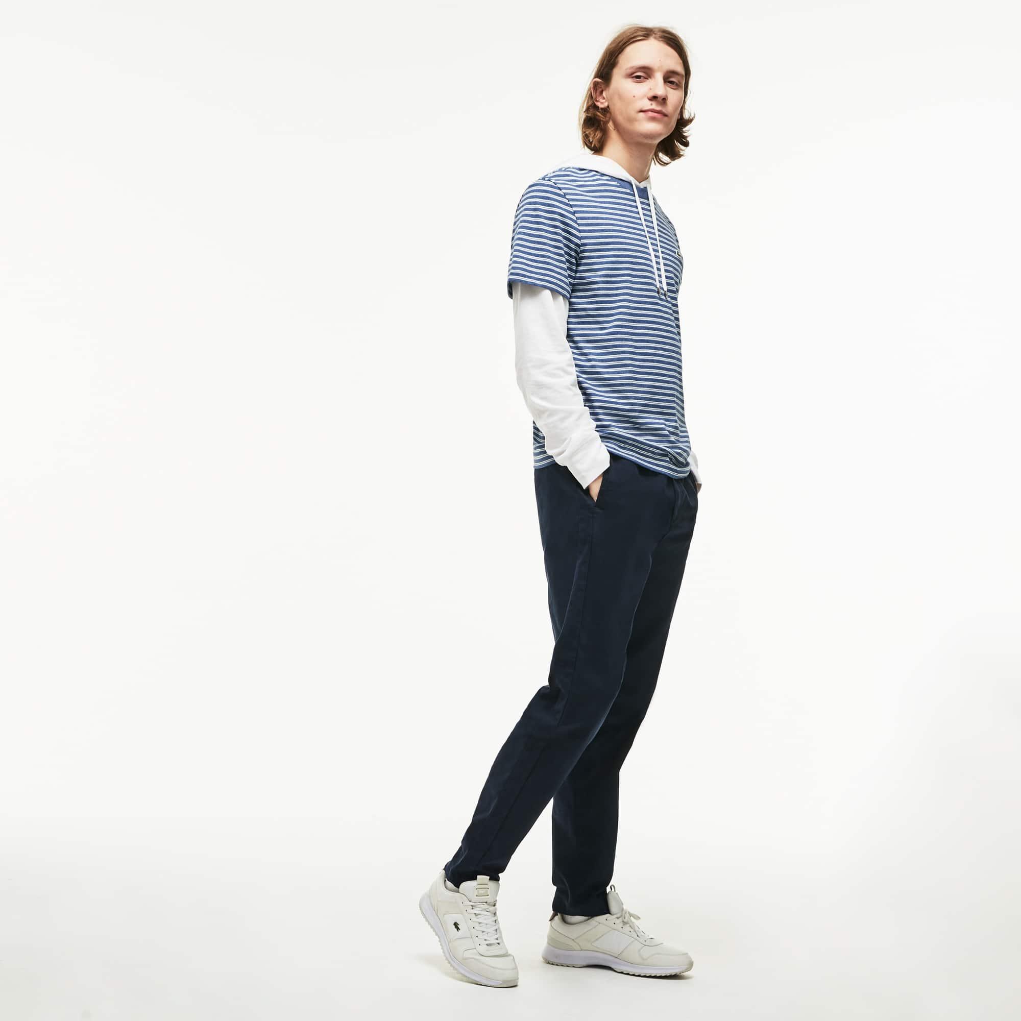 Lacoste - Herren Rundhals-Shirt aus gestreiftem Baumwolljersey - 4