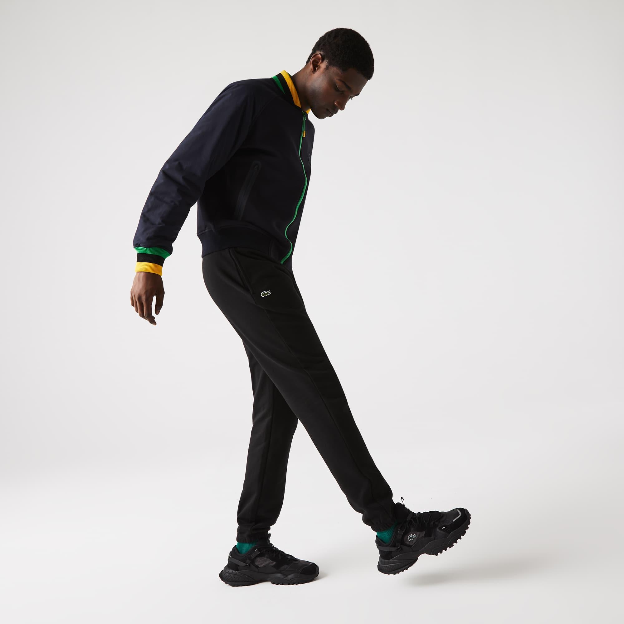 Jogginghose aus einfarbigem Vliesstoff LACOSTESPORT