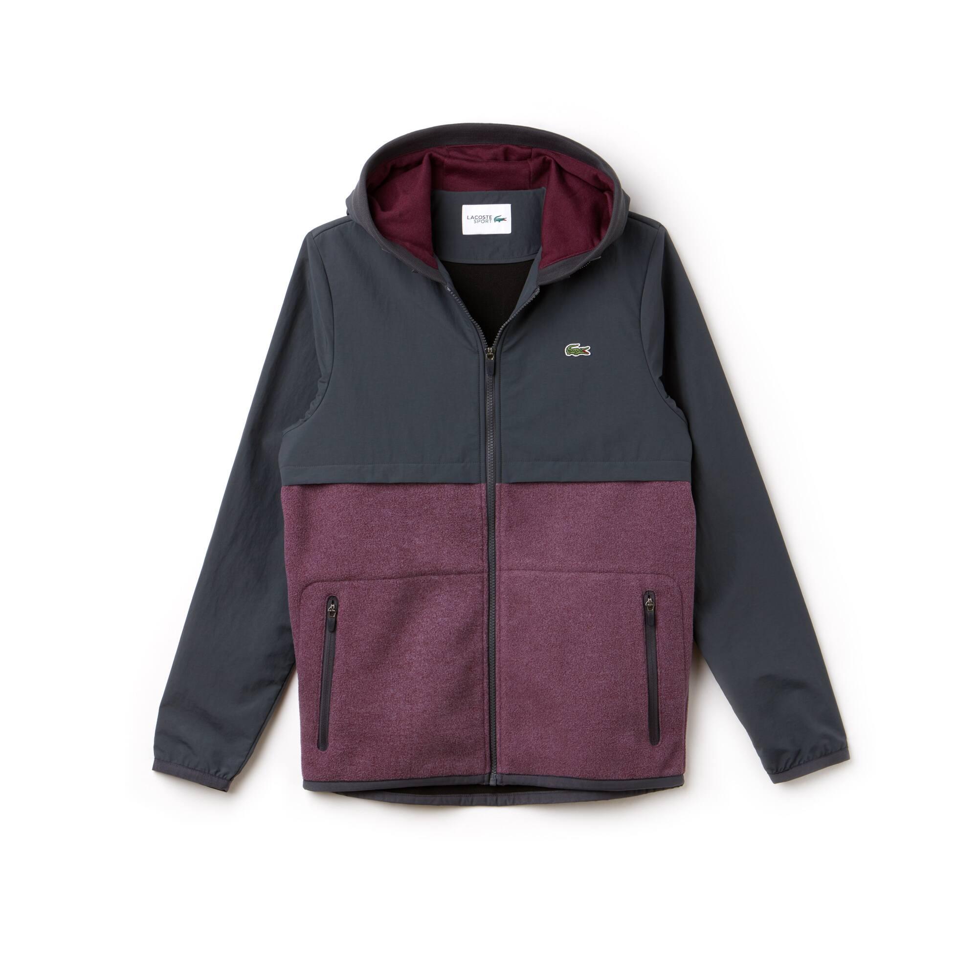 Herren LACOSTE SPORT Colorblock Tennis-Jacke mit Kapuze