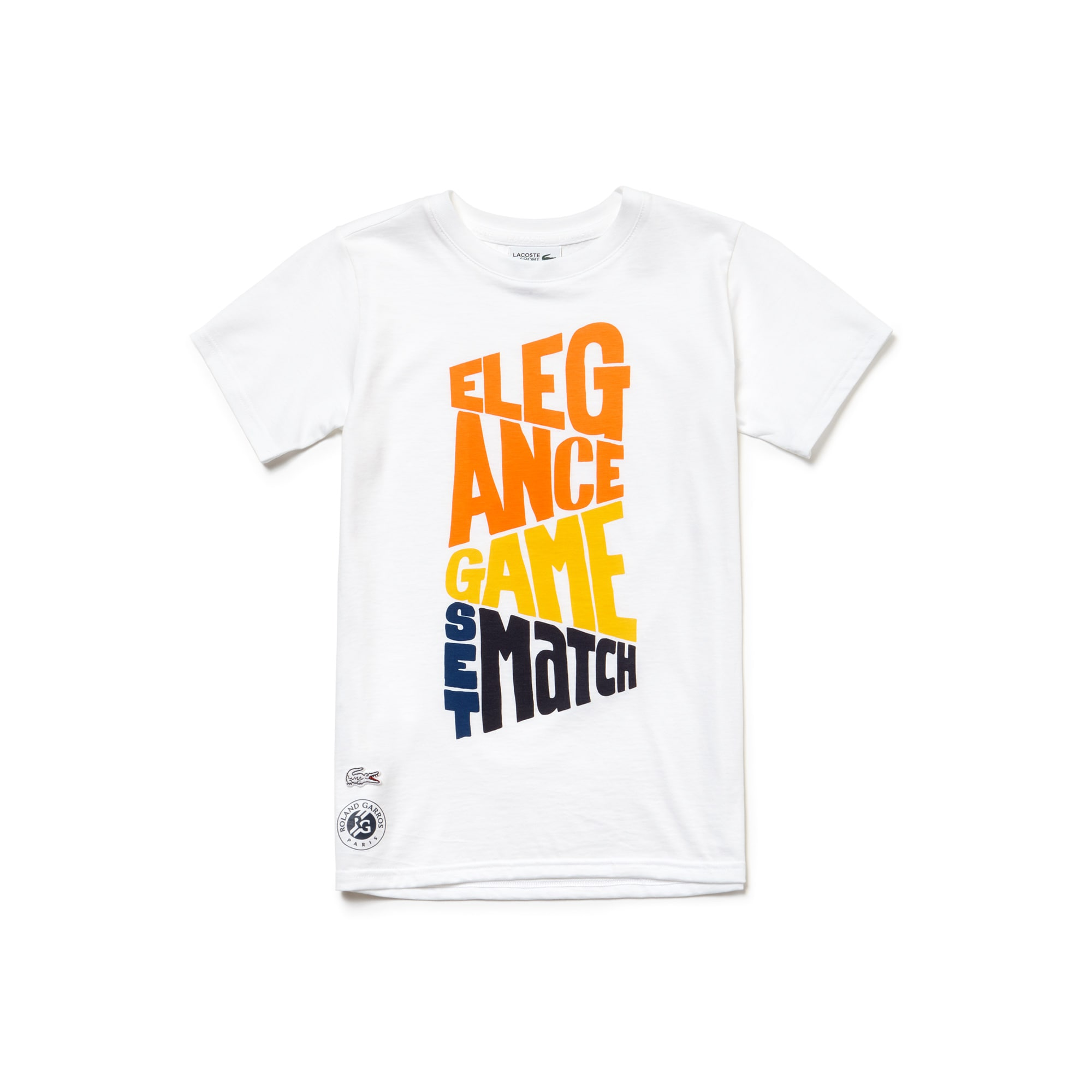 Jungen LACOSTE SPORT Roland Garros Edition Baumwoll-T-Shirt