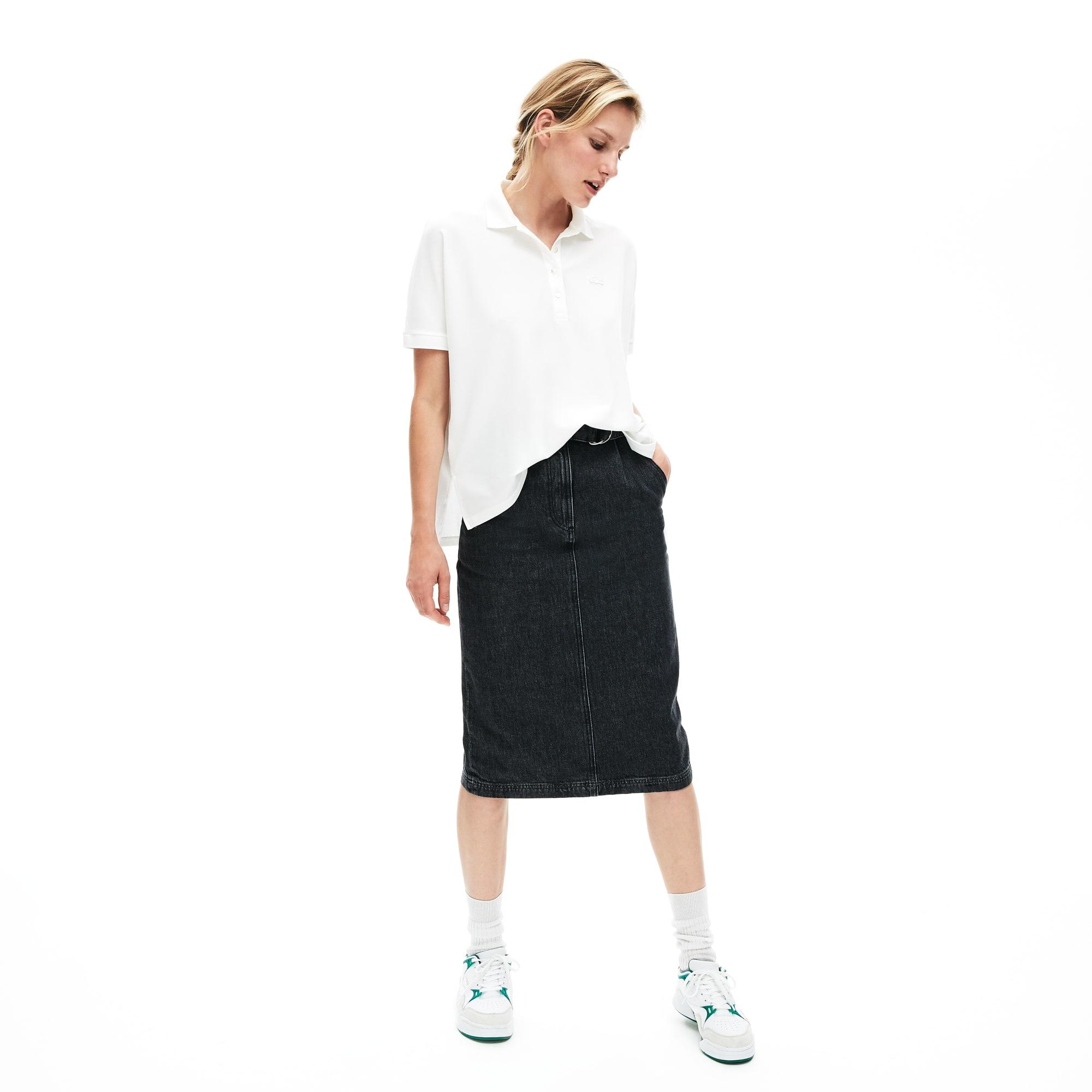 Damen LACOSTE Relax Fit Soft Poloshirt aus Baumwoll-Piqué mit Stretch