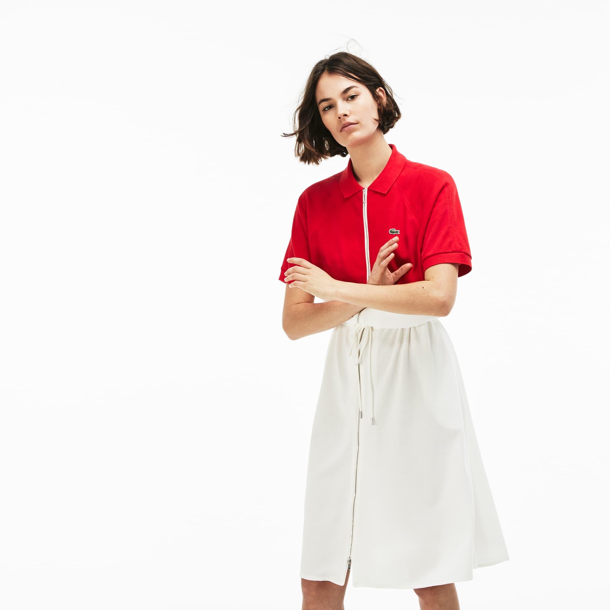 Damen LACOSTE Polokleid aus Baumwoll-Petit Piqué mit Colorblocks