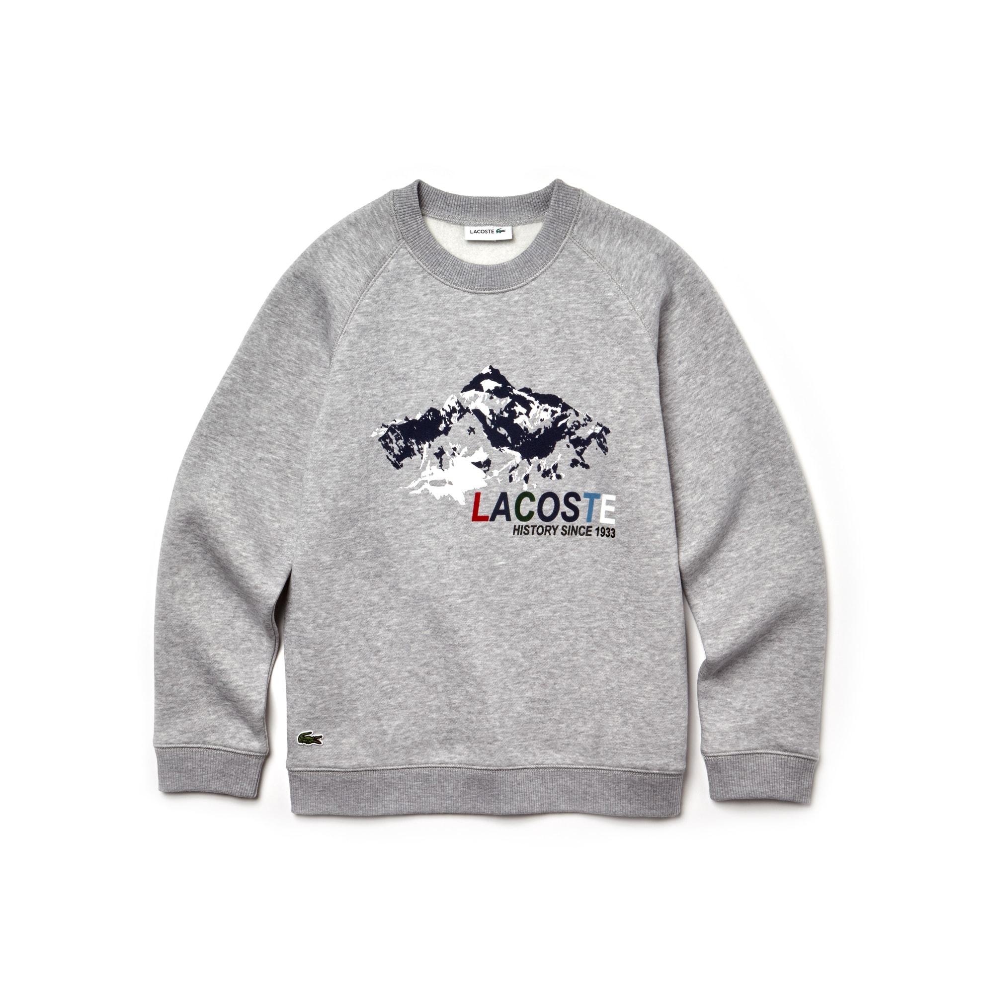 Jungen Rundhals-Sweatshirt aus Fleece mit Aufdruck