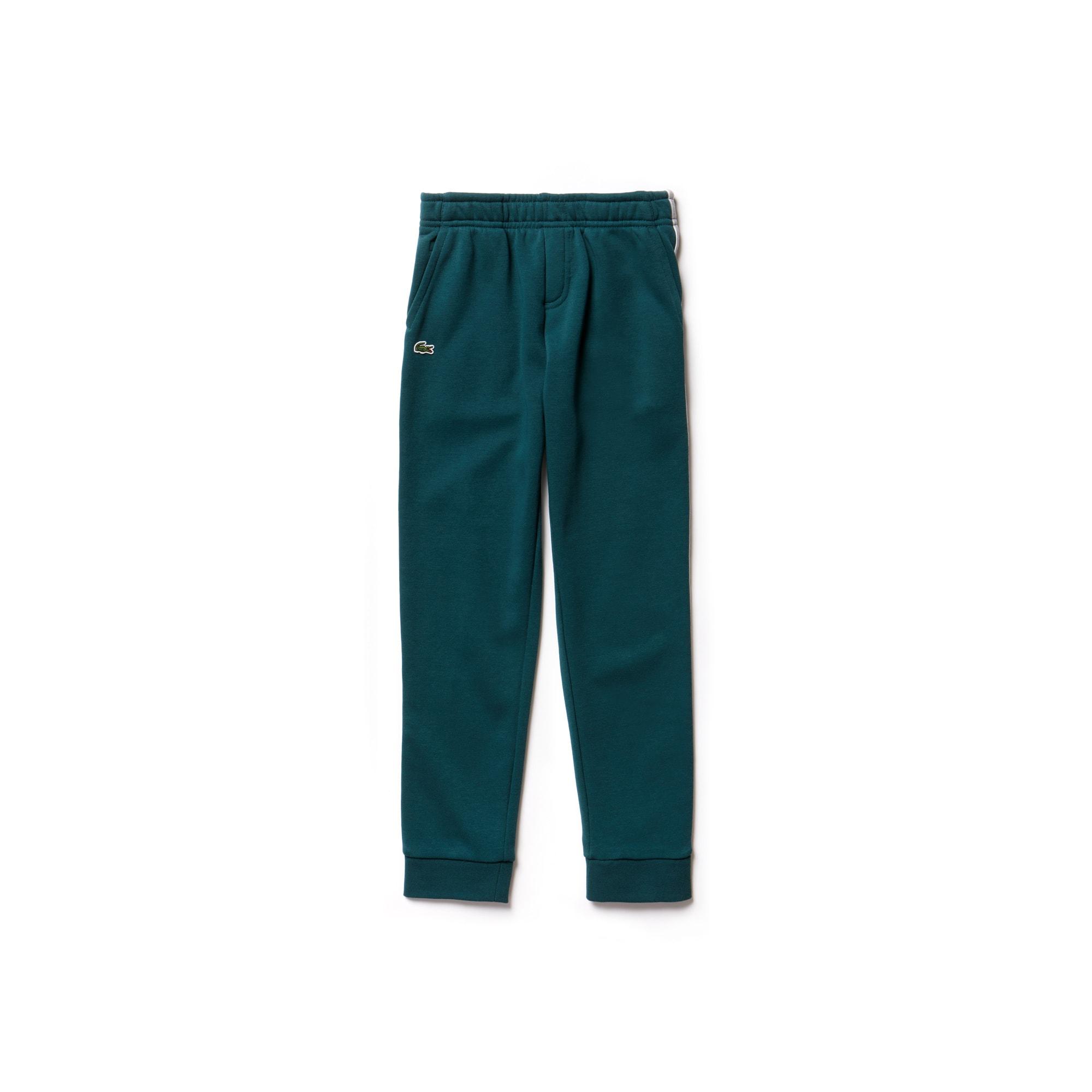 Jungen-Jogginghose mit seitlichen Streifen aus Fleece