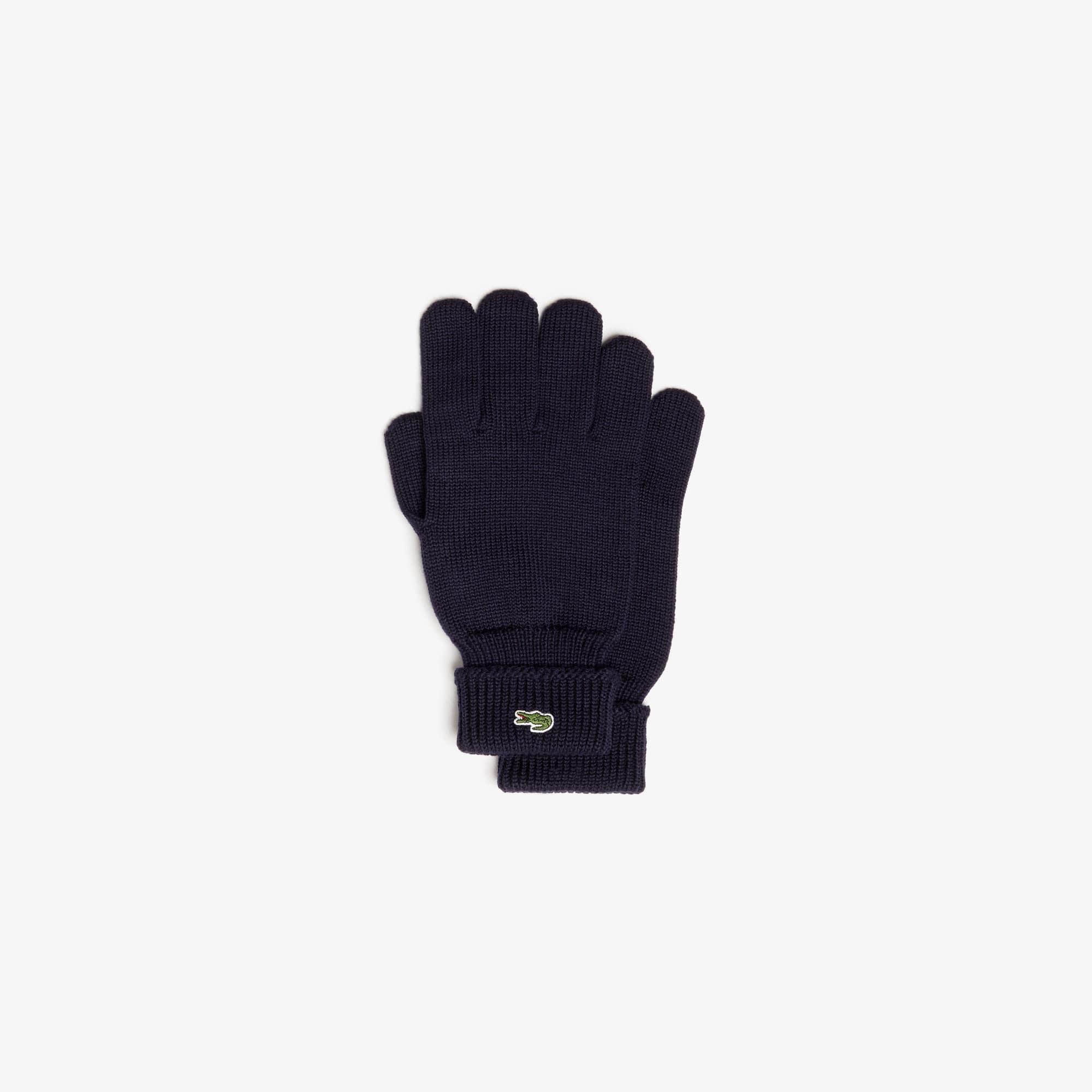 Herren-Handschuhe aus gerippter Wolle