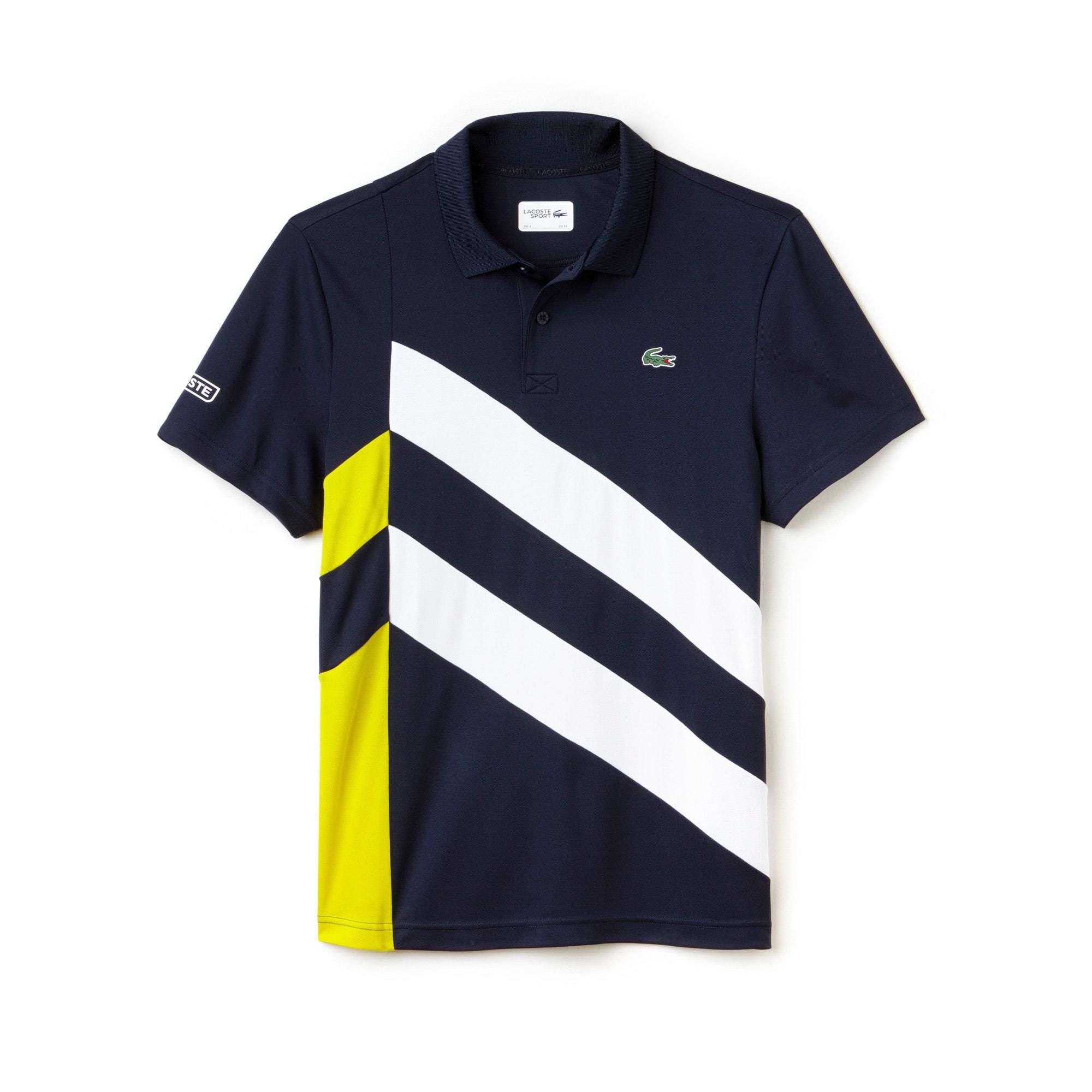 Herren-Funktions-Polo mit Colorblockband LACOSTE SPORT TENNIS