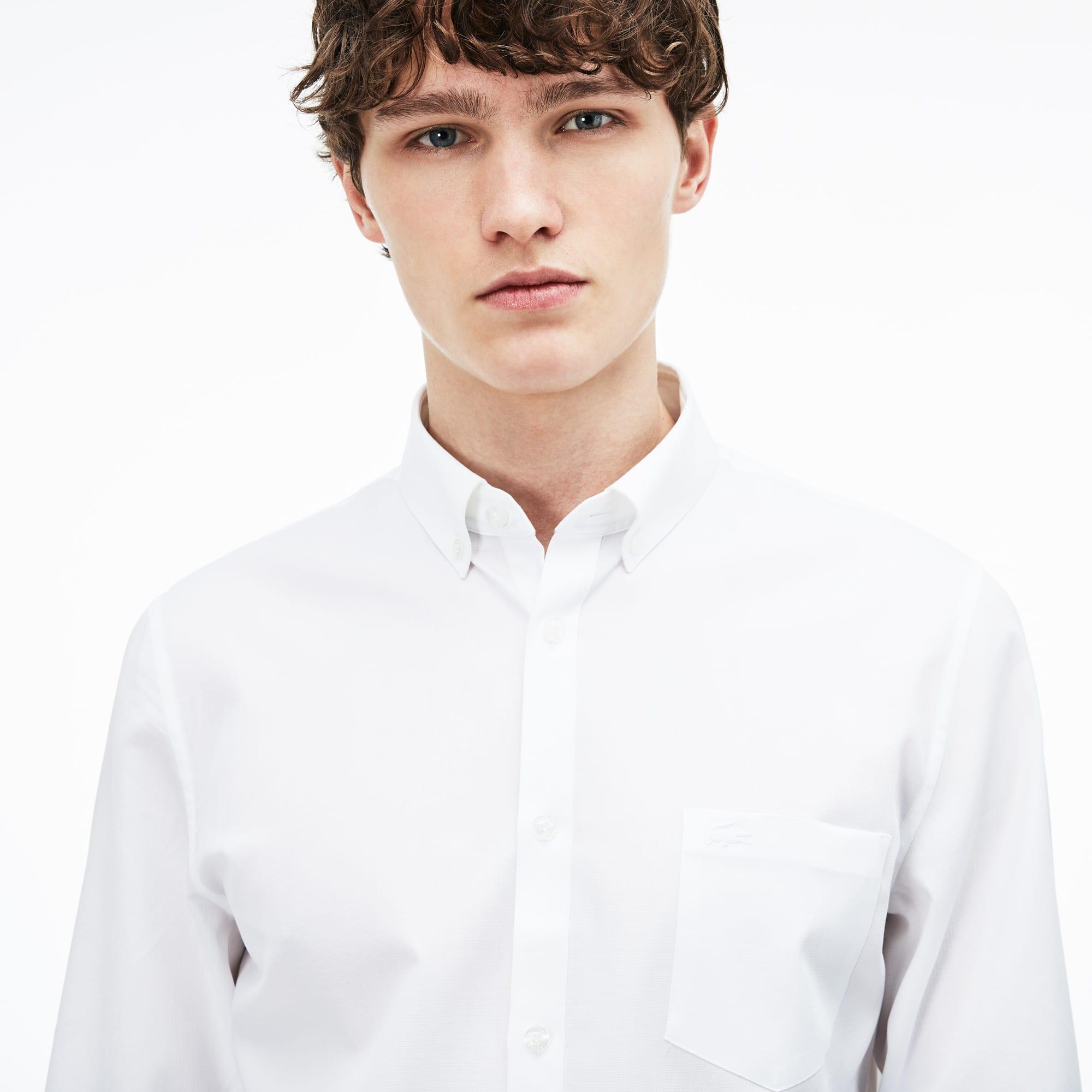 Lacoste - Regular Fit Herren-Hemd aus strukturierter Popeline - 6