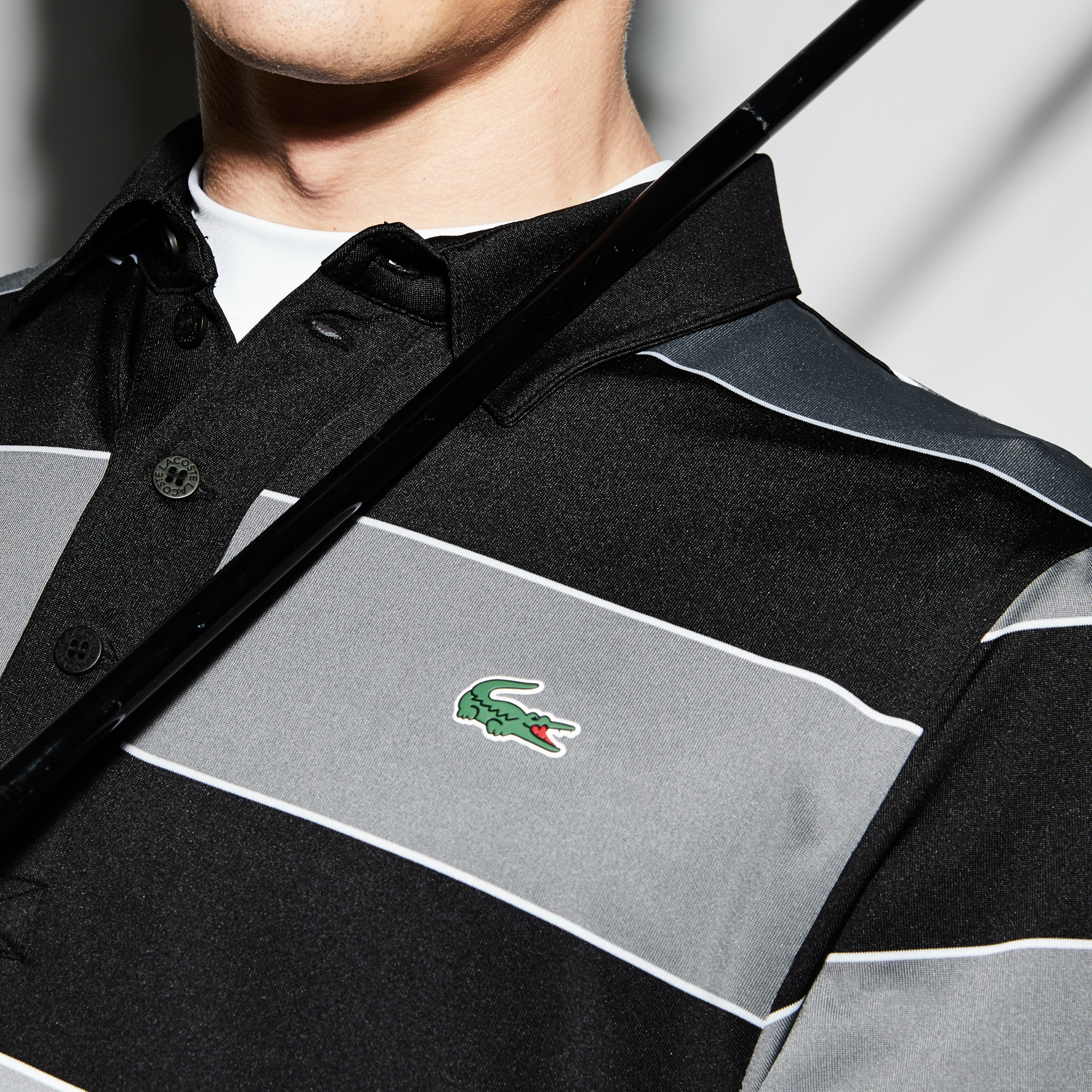 Lacoste - Herren LACOSTE SPORT gestreiftes Golf-Poloshirt aus Jersey - 4