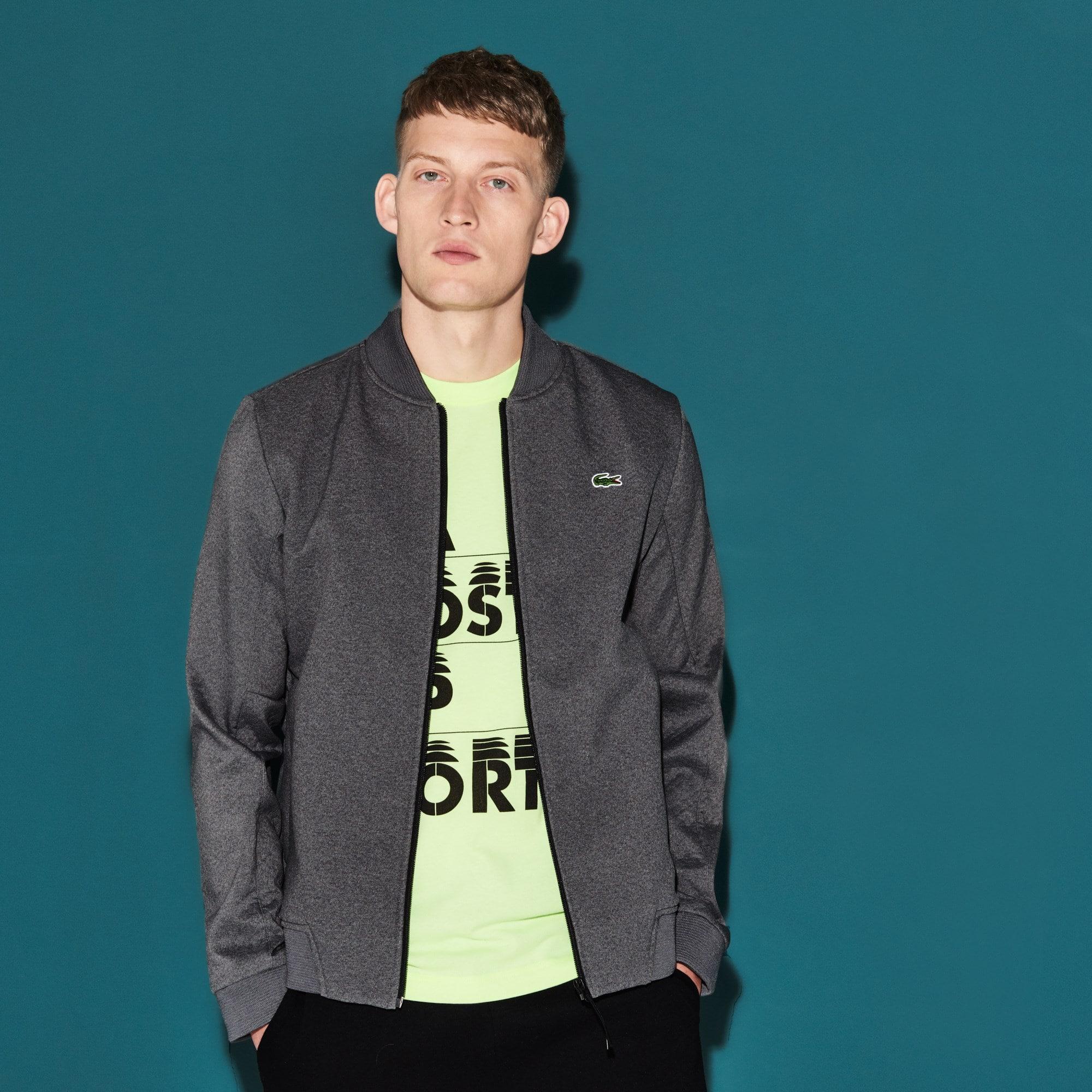 Herren LACOSTE SPORT Fleece Midlayer Tennis Sweatshirt