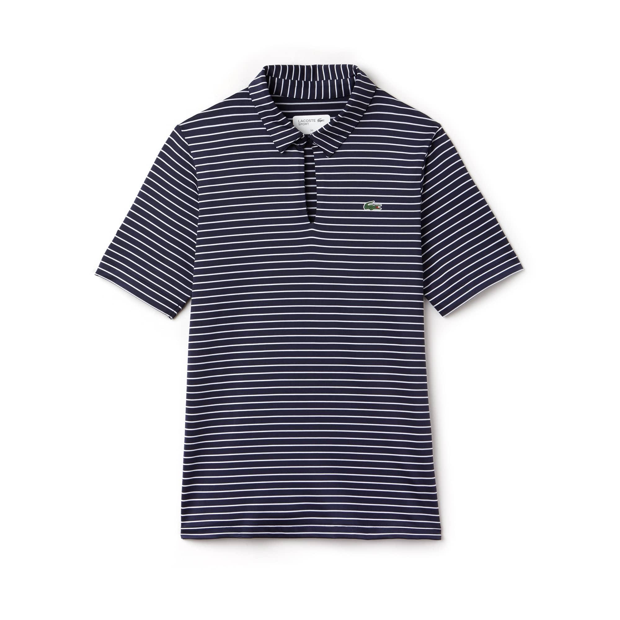 Damen LACOSTE SPORT Ryder Cup Edition gestreiftes Golf Poloshirt