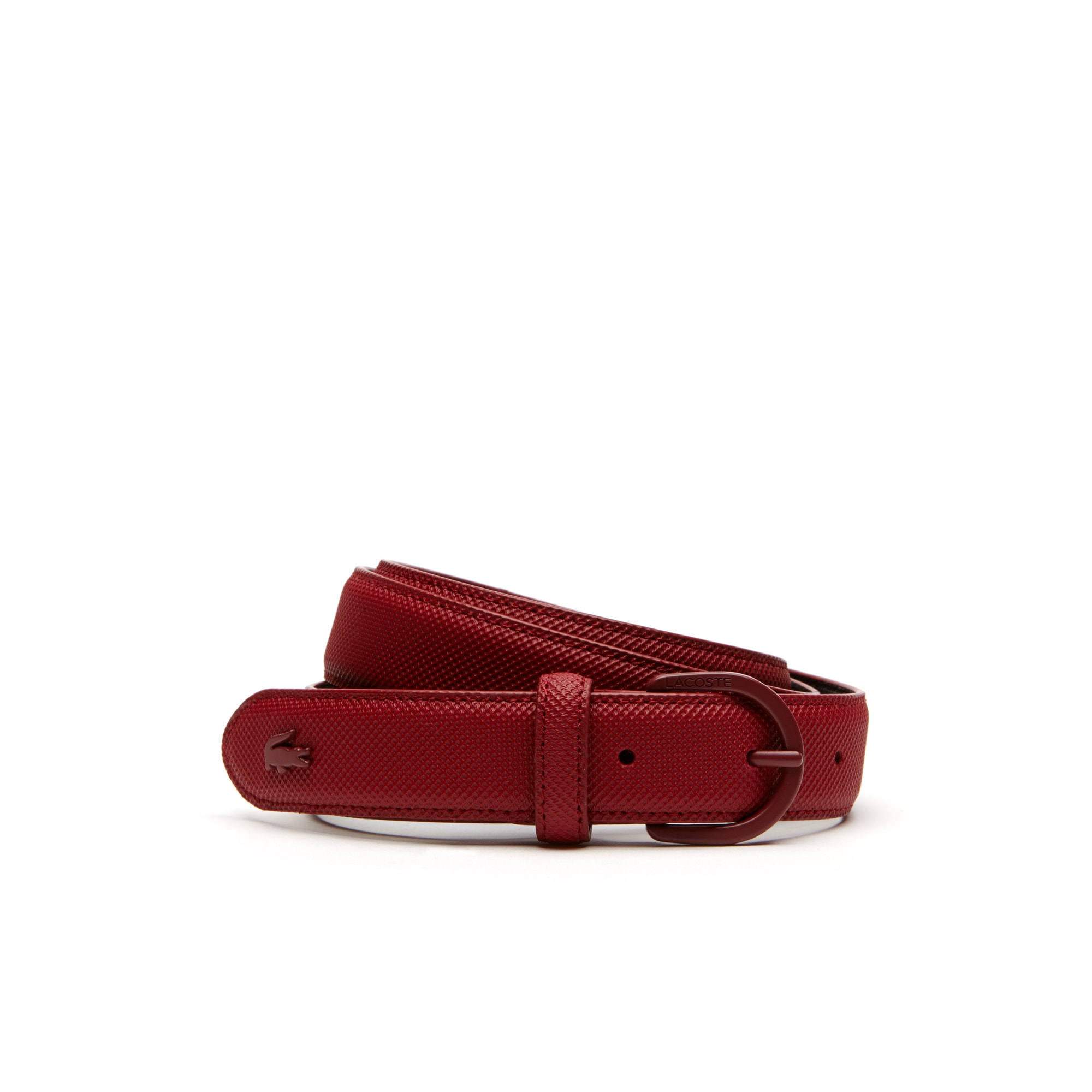 Damen L.12.12 Concept Einfarbiger Piqué-Gürtel mit Dornschnalle