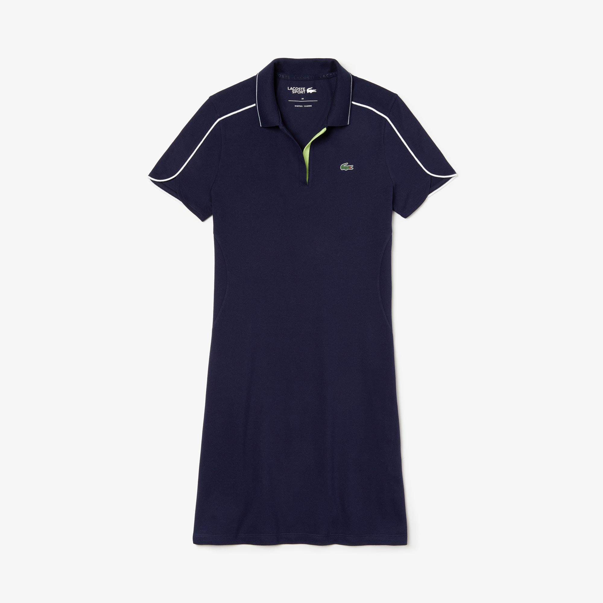 newest collection 388bb 33657 Damen LACOSTE SPORT Golf-Polokleid mit V-Ausschnitt