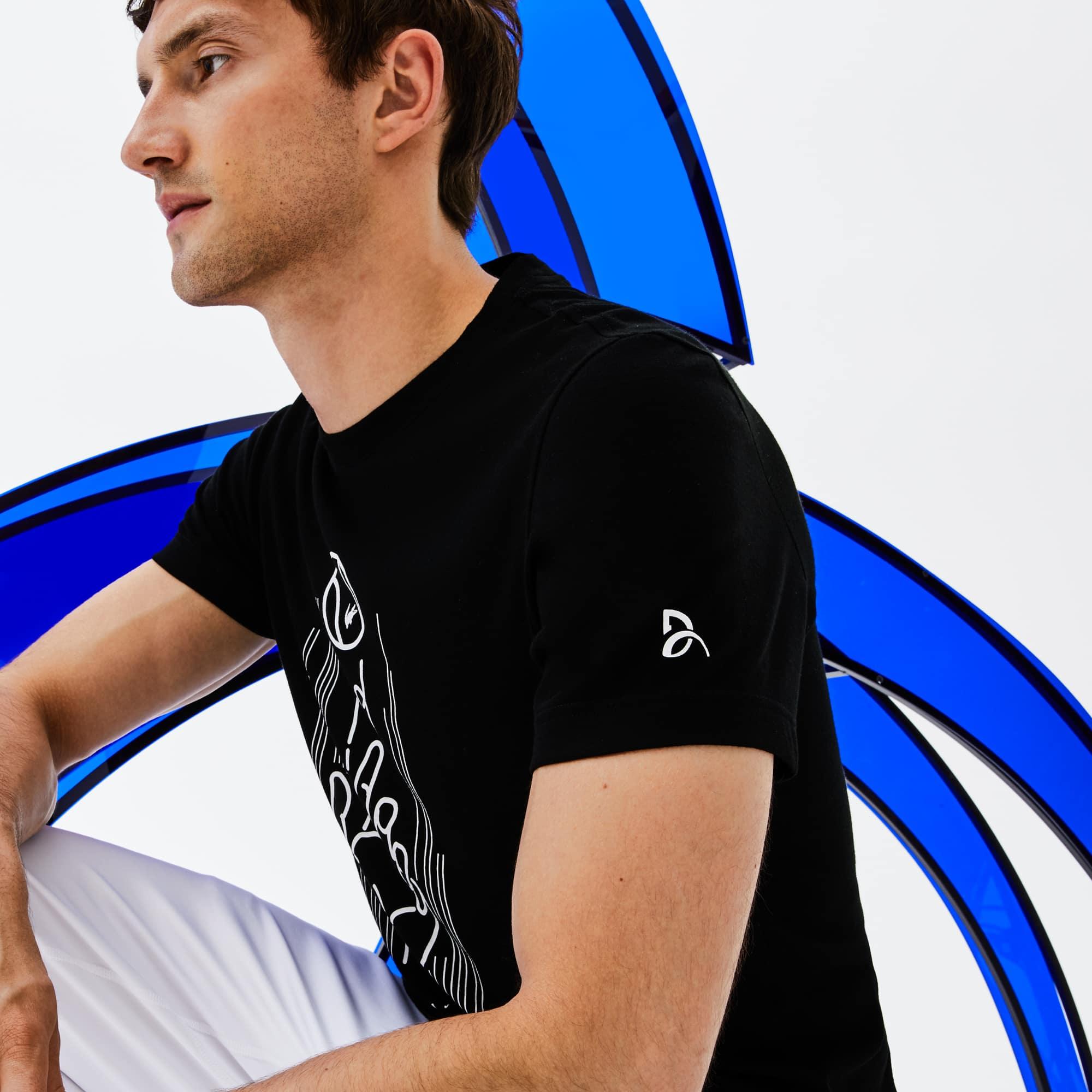 Lacoste - Herren Rundhals-T-Shirt aus Jersey mit Aufdruck LACOSTE SPORT - 4