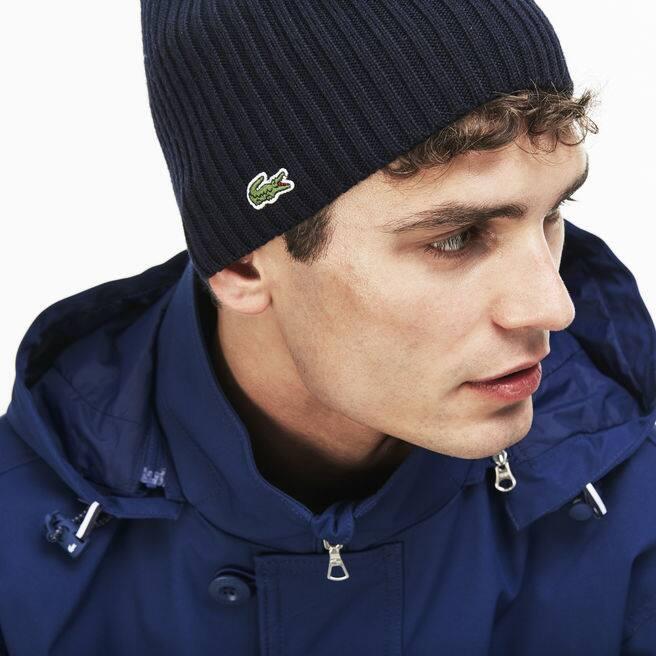 Herren-Mütze aus gerippter Wolle