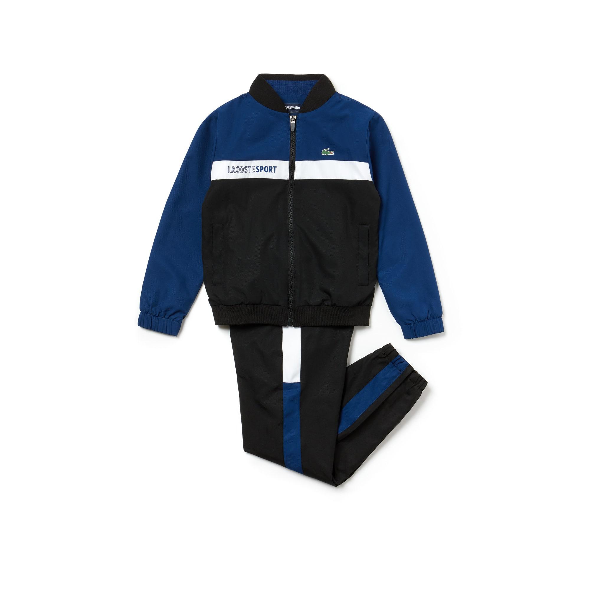 Jungen LACOSTE SPORT Taft Trainingsanzug mit Colorblocks