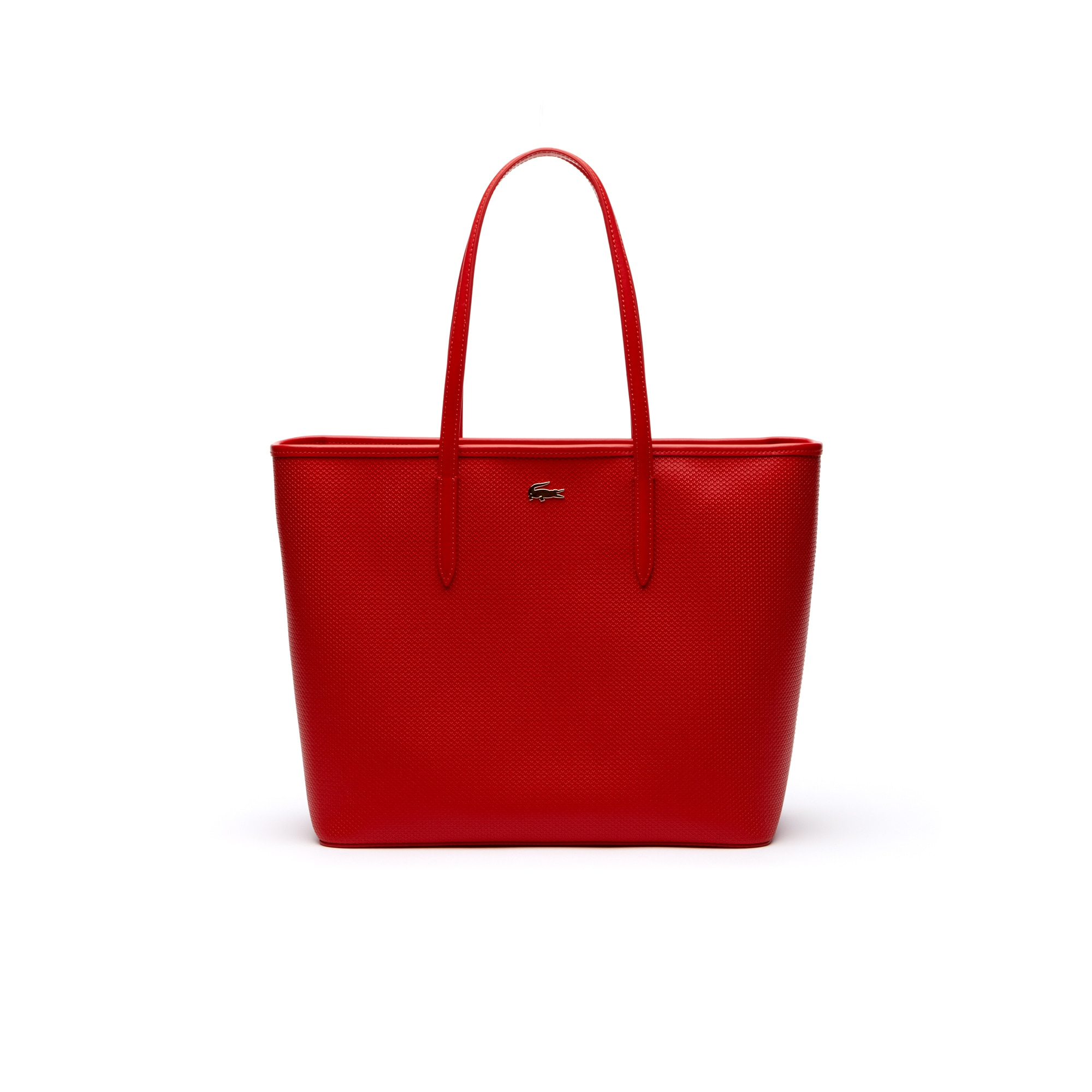 Große Damen-Tote-Bag CHANTACO aus Piqué-Leder mit Reißverschluss