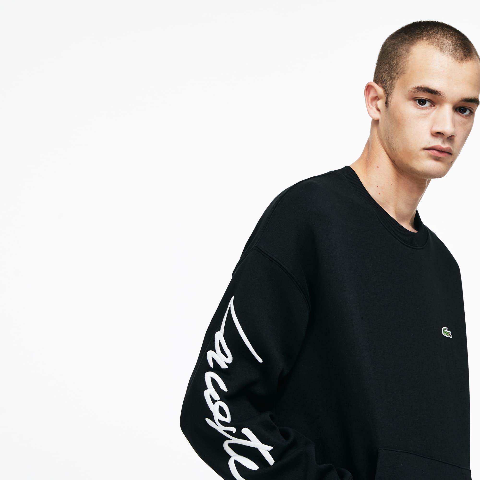 Lacoste - LACOSTE L!VE Rundhals-Sweatshirt mit Stickerei - 3