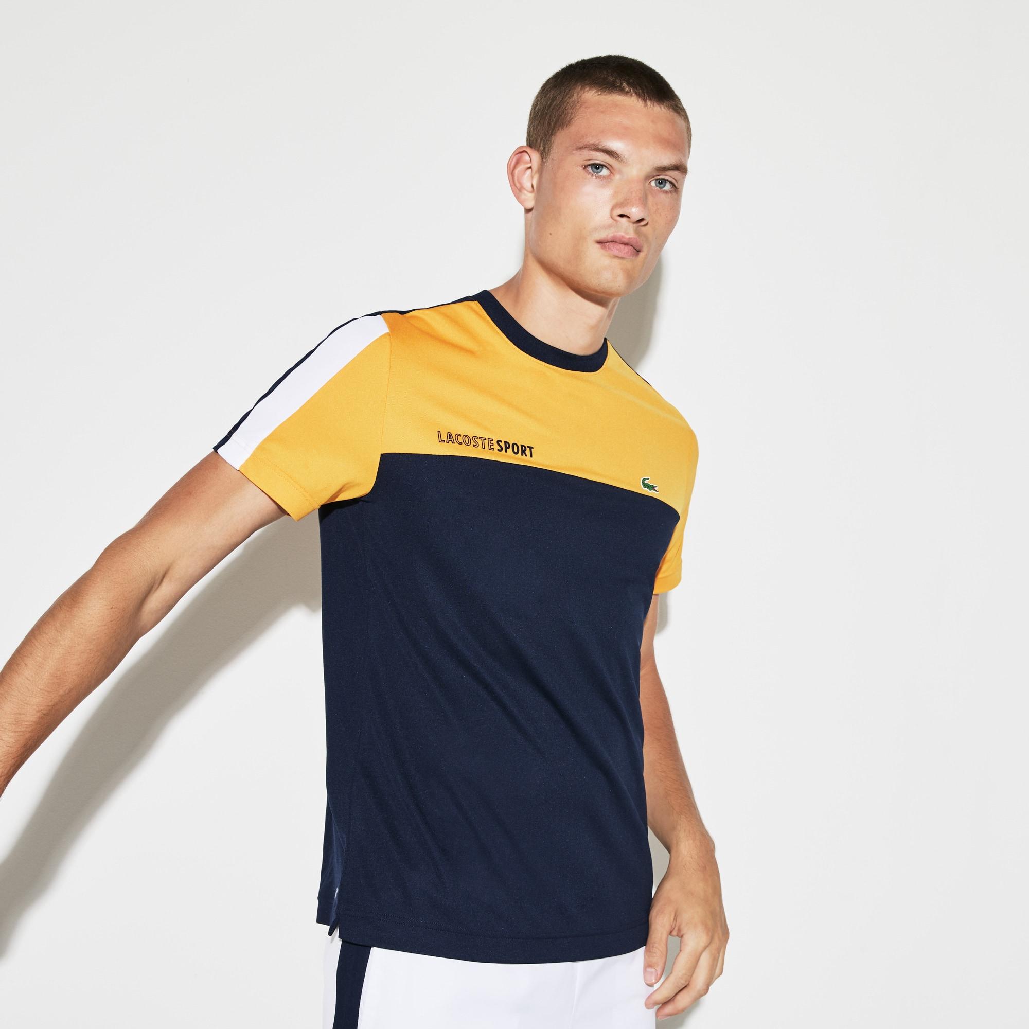 Lacoste - Herren LACOSTE SPORT Rundhals Tennis T-Shirt mit Colorblocks - 4