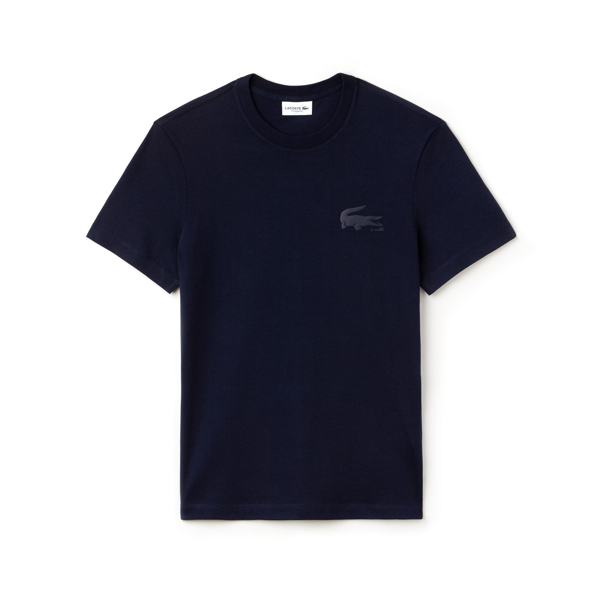 Herren-Rundhals-T-Shirt aus Baumwolljersey mit Kroko-Schriftzug