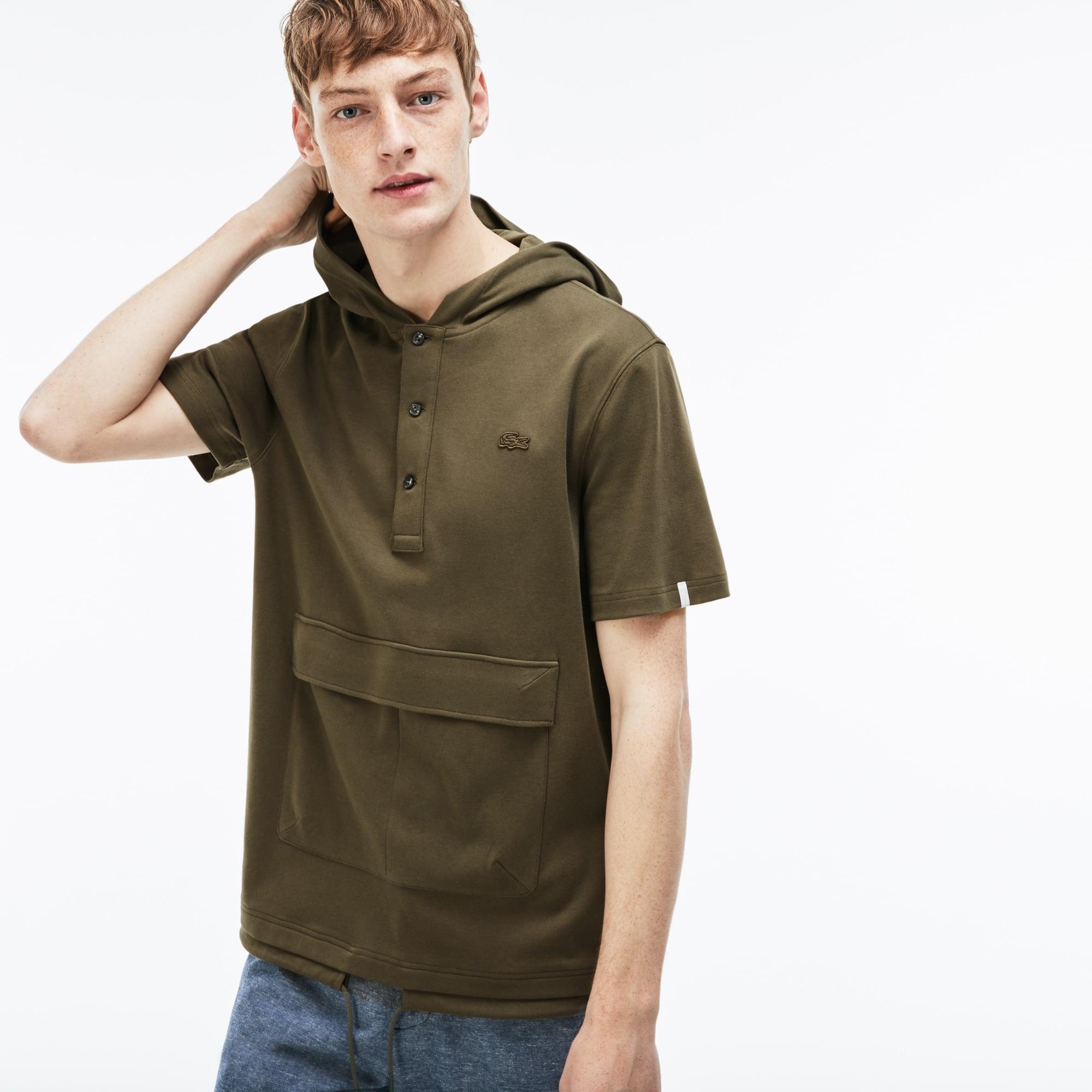 Herren LACOSTE LIVE Interlock-Sweatshirt mit Kapuze