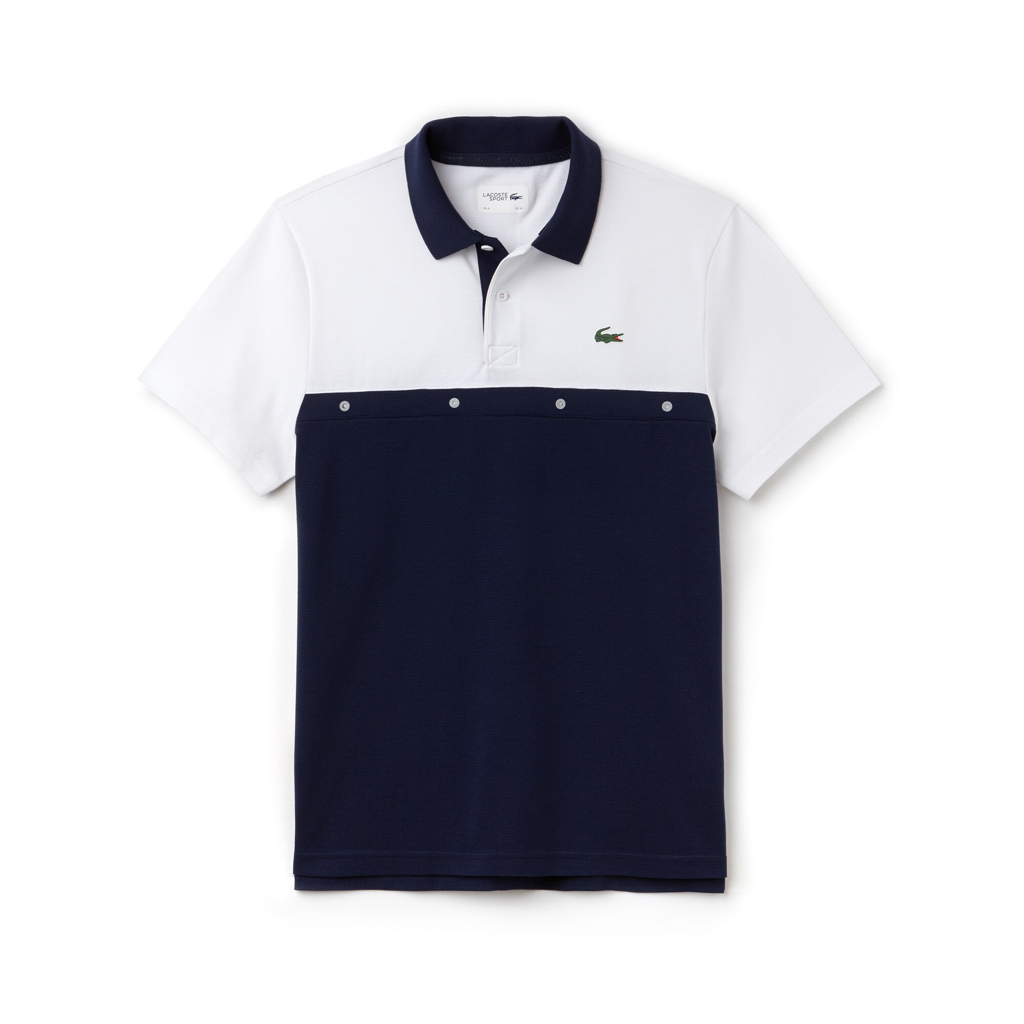 Herren-Polo aus Baumwolle mit Colorblocks LACOSTE SPORT TENNIS