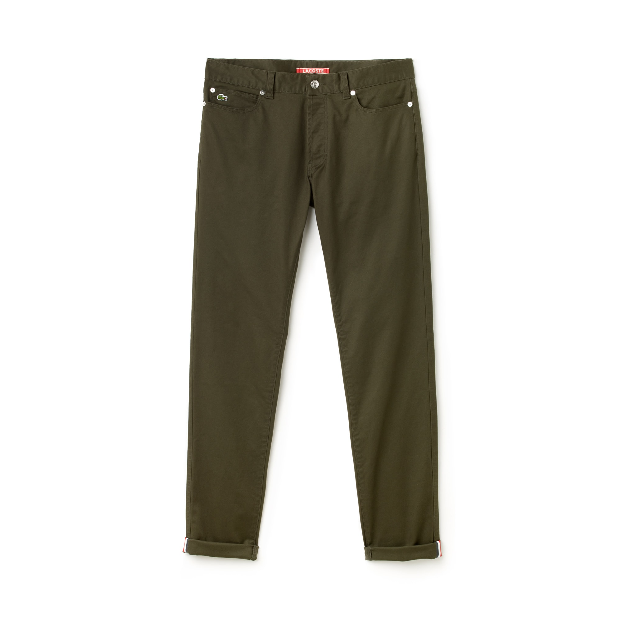 Herren-Jeans aus Stretch mit umgeschlagenen Säumen LACOSTE L!VE