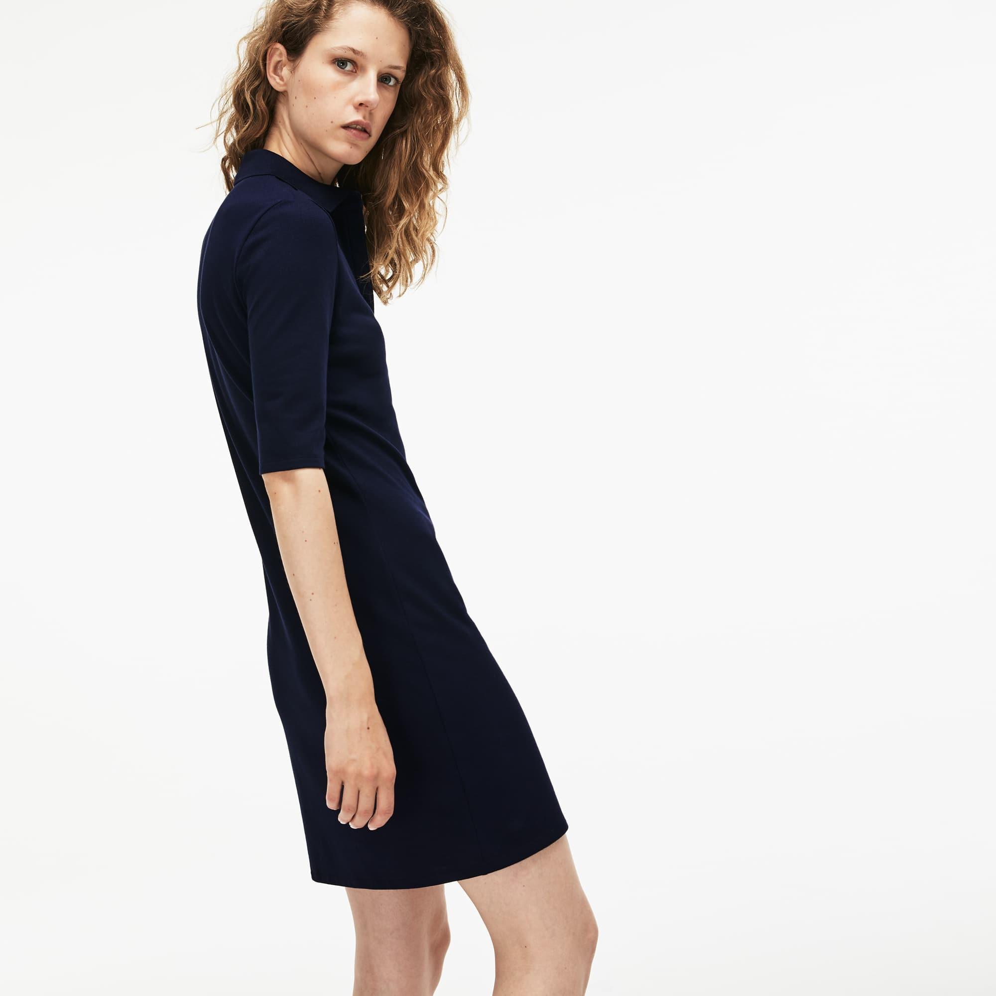 Lacoste - Slim Fit Damen-Polokleid aus Mini-Piqué mit Stretch - 2