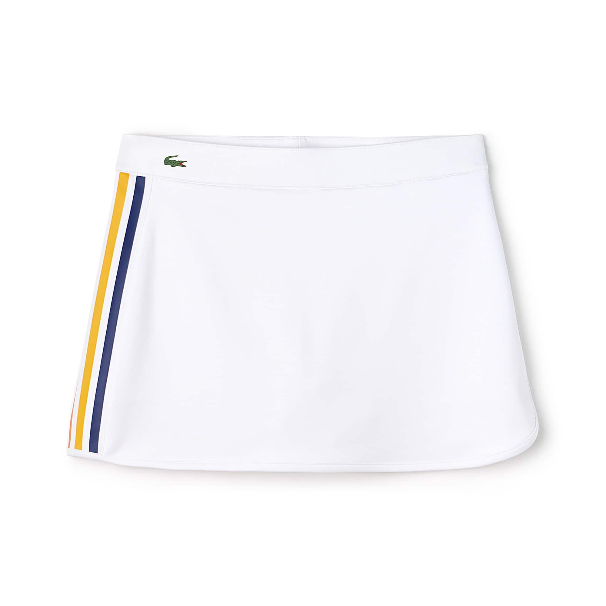 Damen LACOSTE SPORT Jersey Tennisrock mit Kontraststreifen