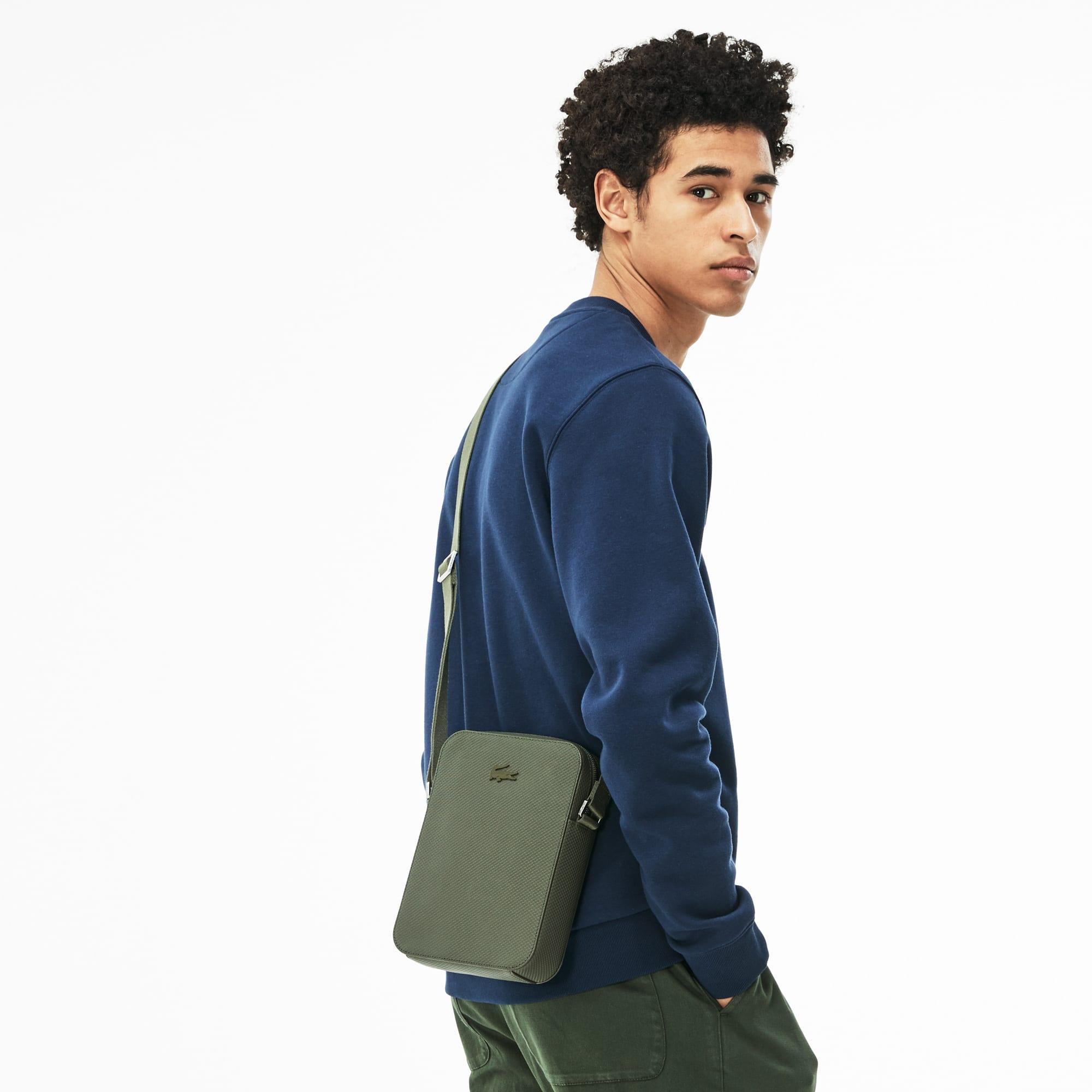 Vertikale Herren-Tasche CHANTACO aus mattem Piqué-Leder