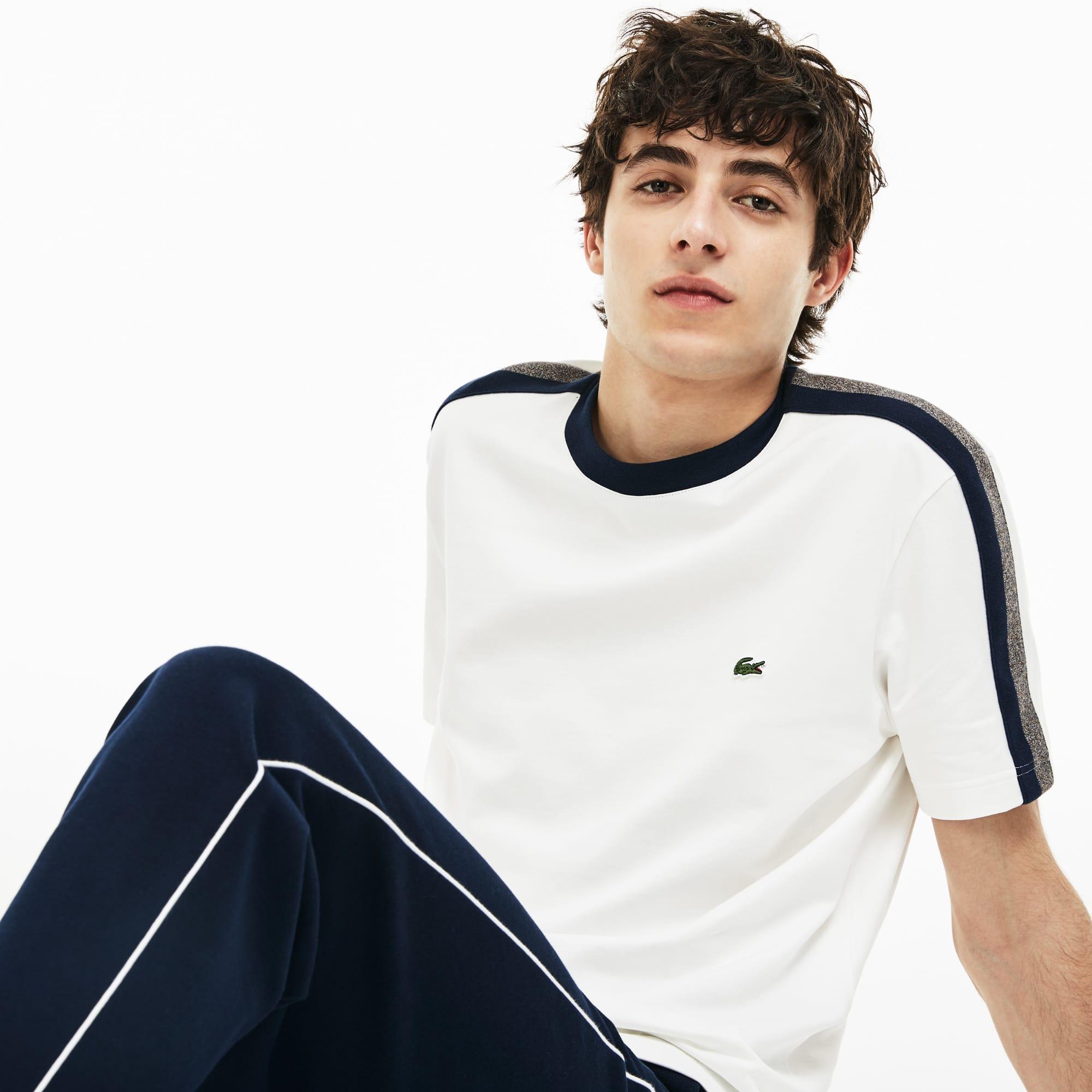 Lacoste - Herren T-Shirt mit Kontrast-Streifen - 5