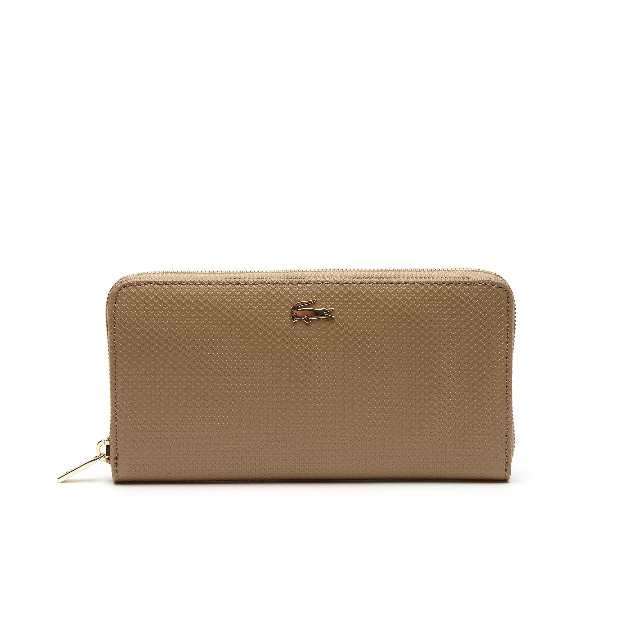 Damen Chantaco Brieftasche aus Piqué-Leder mit Reißverschluss
