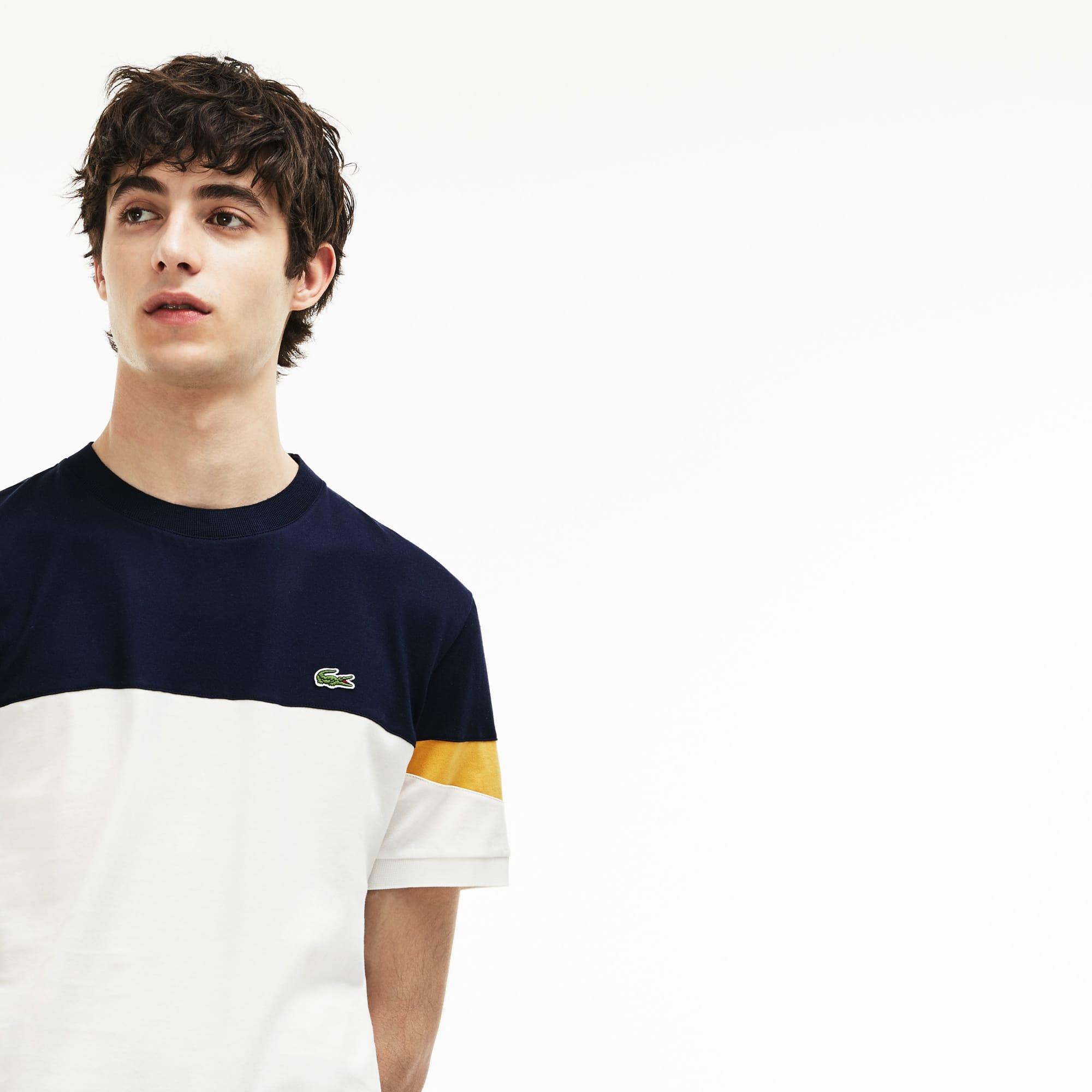 Lacoste - Herren Rundhals-Shirt aus Jersey im Colorblock-Design - 6