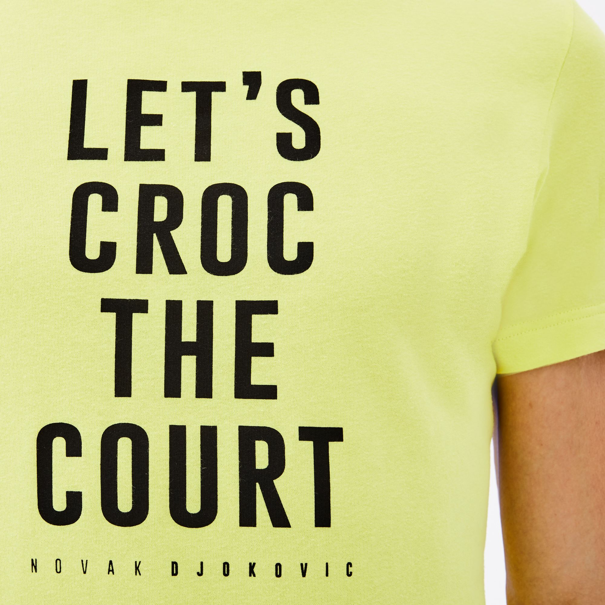 Lacoste - Herren Rundhals-T-Shirt aus Jersey mit Schriftzug LACOSTE SPORT - 5