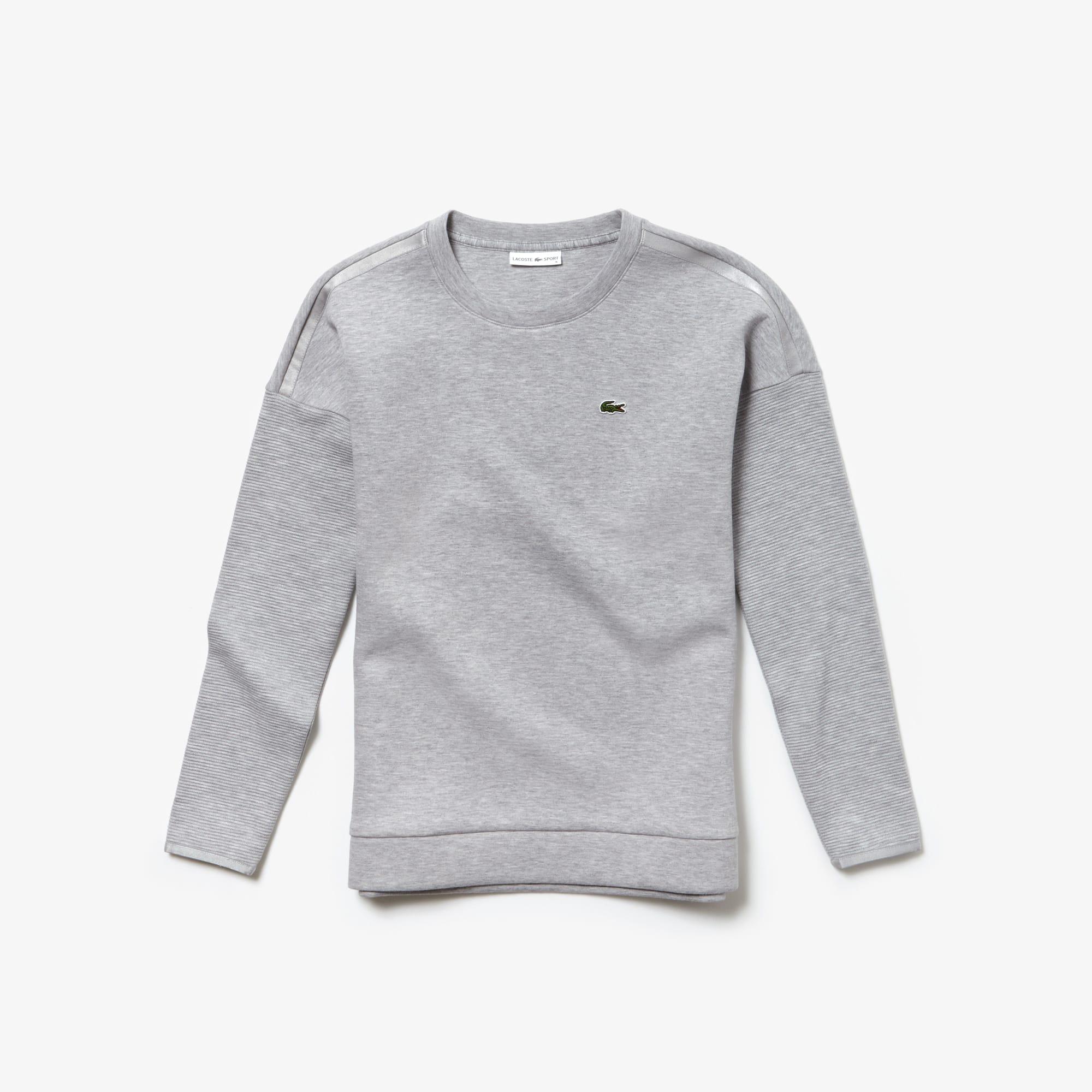 Damen LACOSTE SPORT meliertes Fleece-Sweatshirt mit Colourblocks